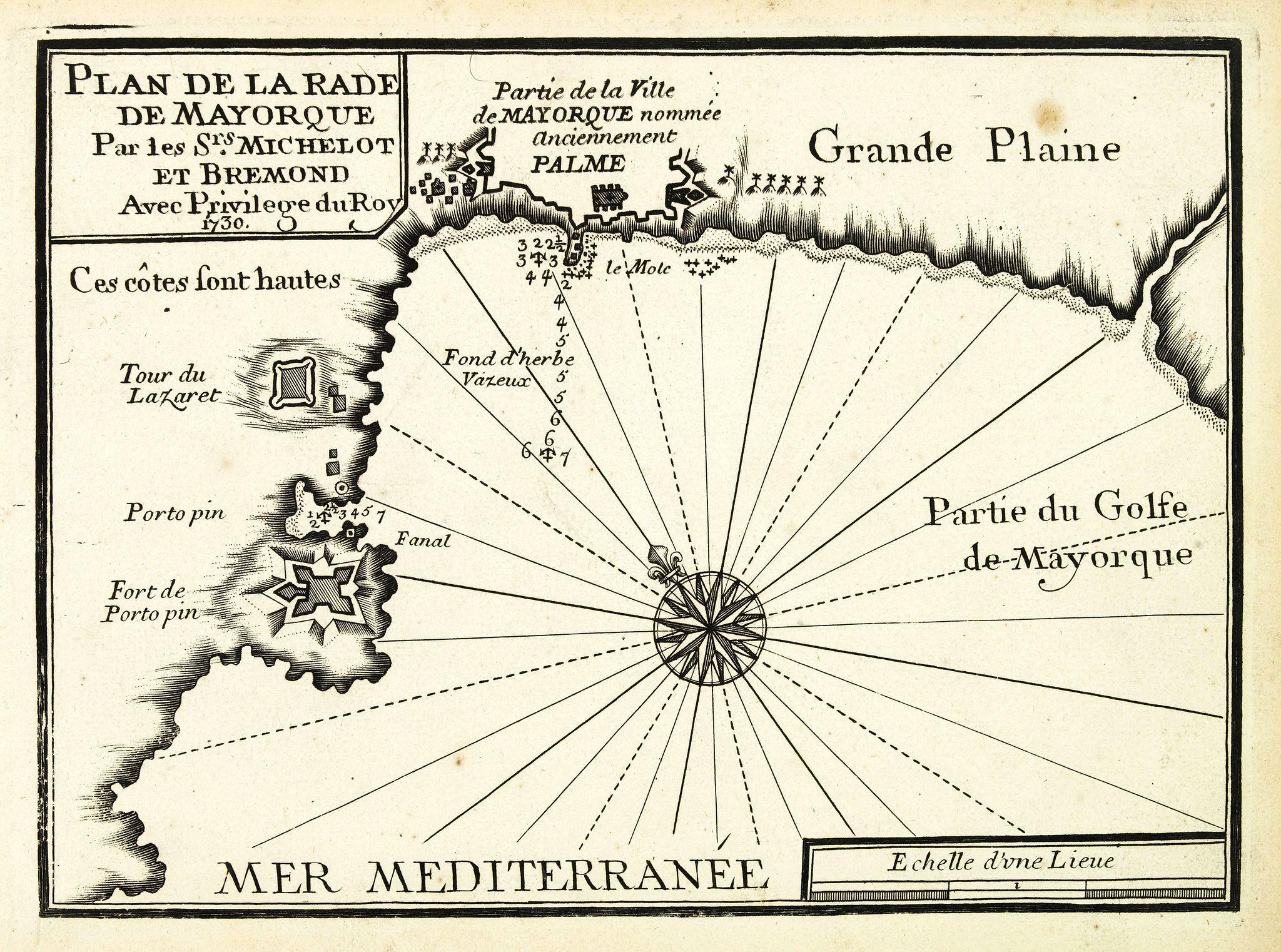 MICHELOT, H. / BREMOND, L. -  Plan de la Rade de Mayorque.