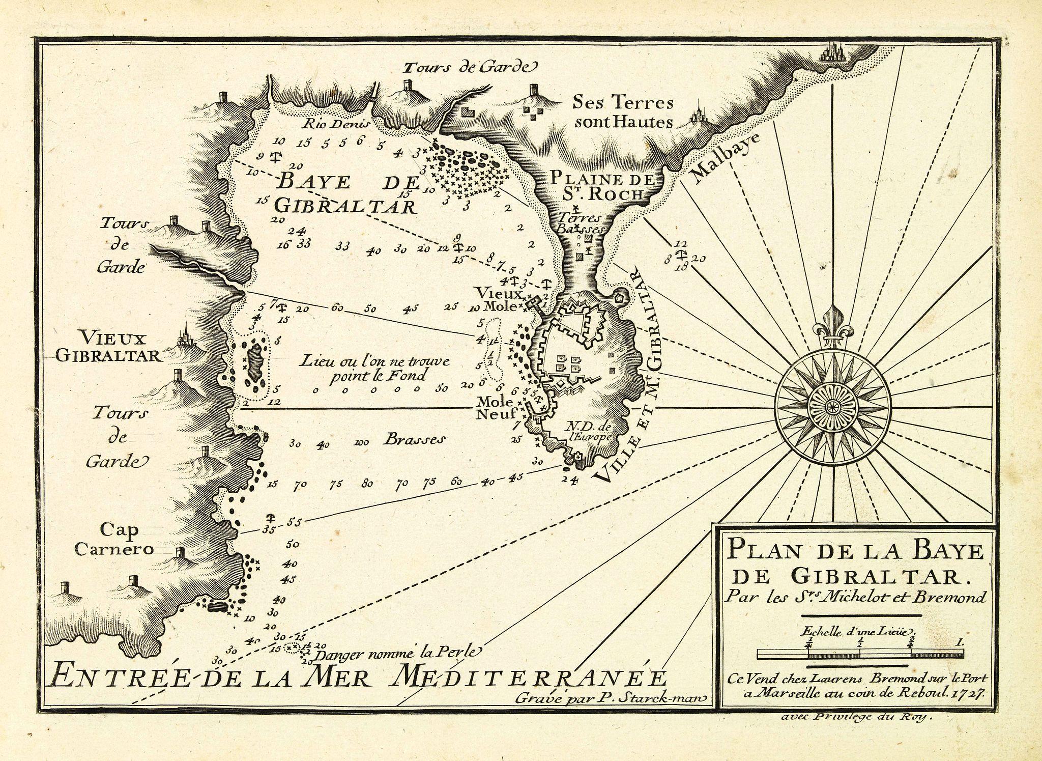 MICHELOT, H. / BREMOND, L. -  Plan de la Baye de Gibraltar.