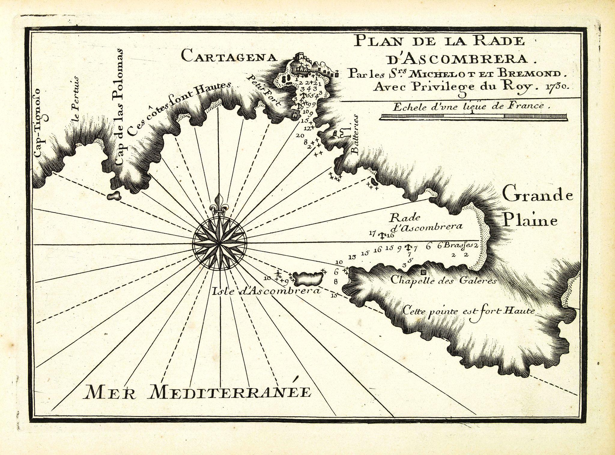 MICHELOT, H. / BREMOND, L. -  Plan de la Rade d'Ascombrera. . .