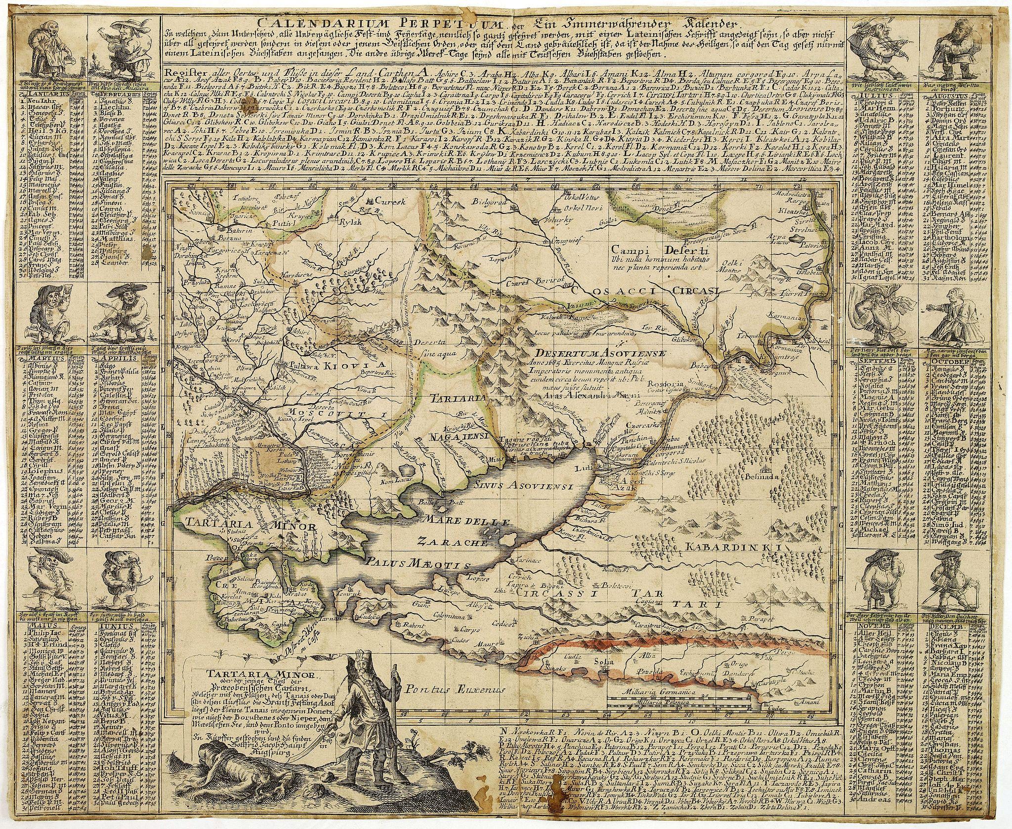 HAUPT, J.G. - Tartaria Minor. . . . Calendarium Perpetuum oder Ein Immerwährender Kalender. . .