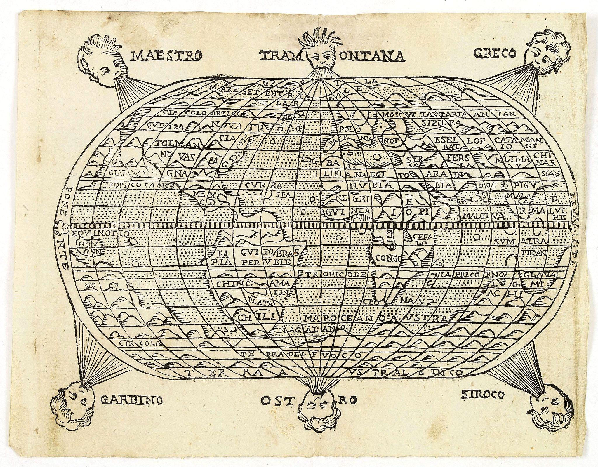 ROSACCIO , G. - [ World map ]