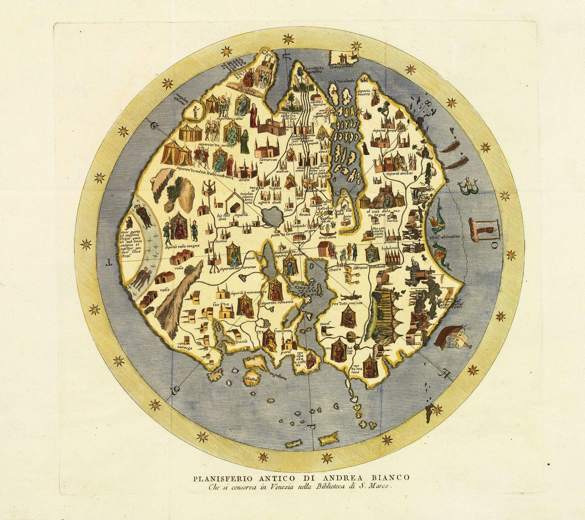 FORMALEONI, V.A. - Planisfero Antico di Andrea Bianco Che si conserva in Venezia nella Biblioteca di S. Marco.