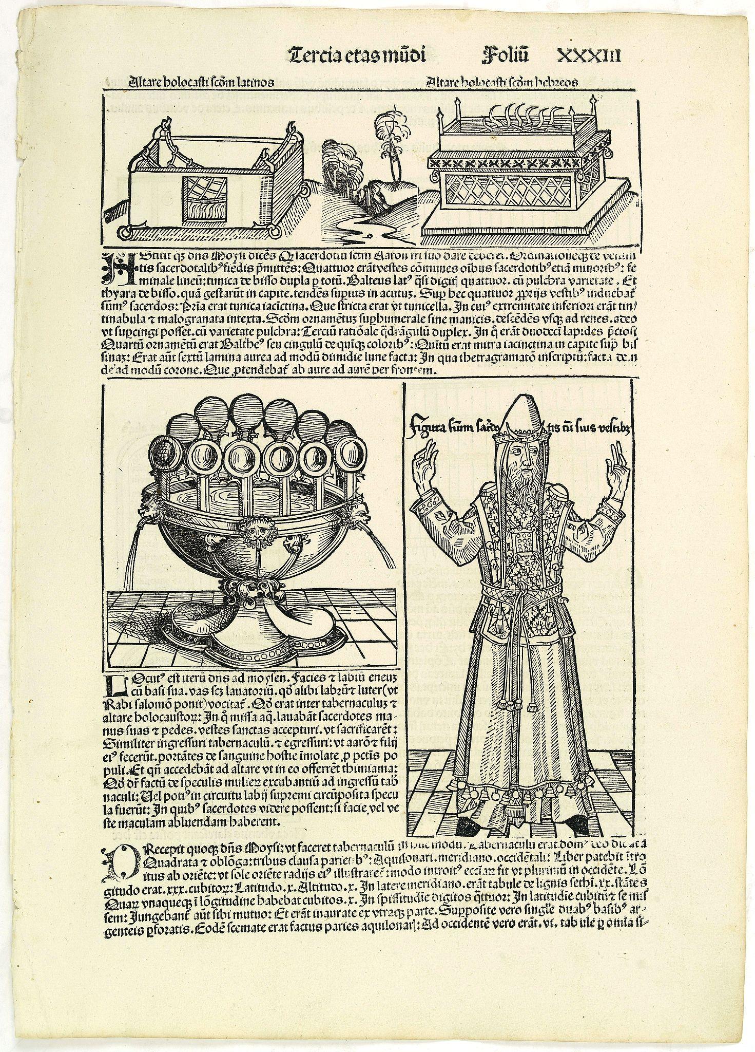 SCHEDEL, H. -  Tercia Etas Mundi. Folium.XXXIII