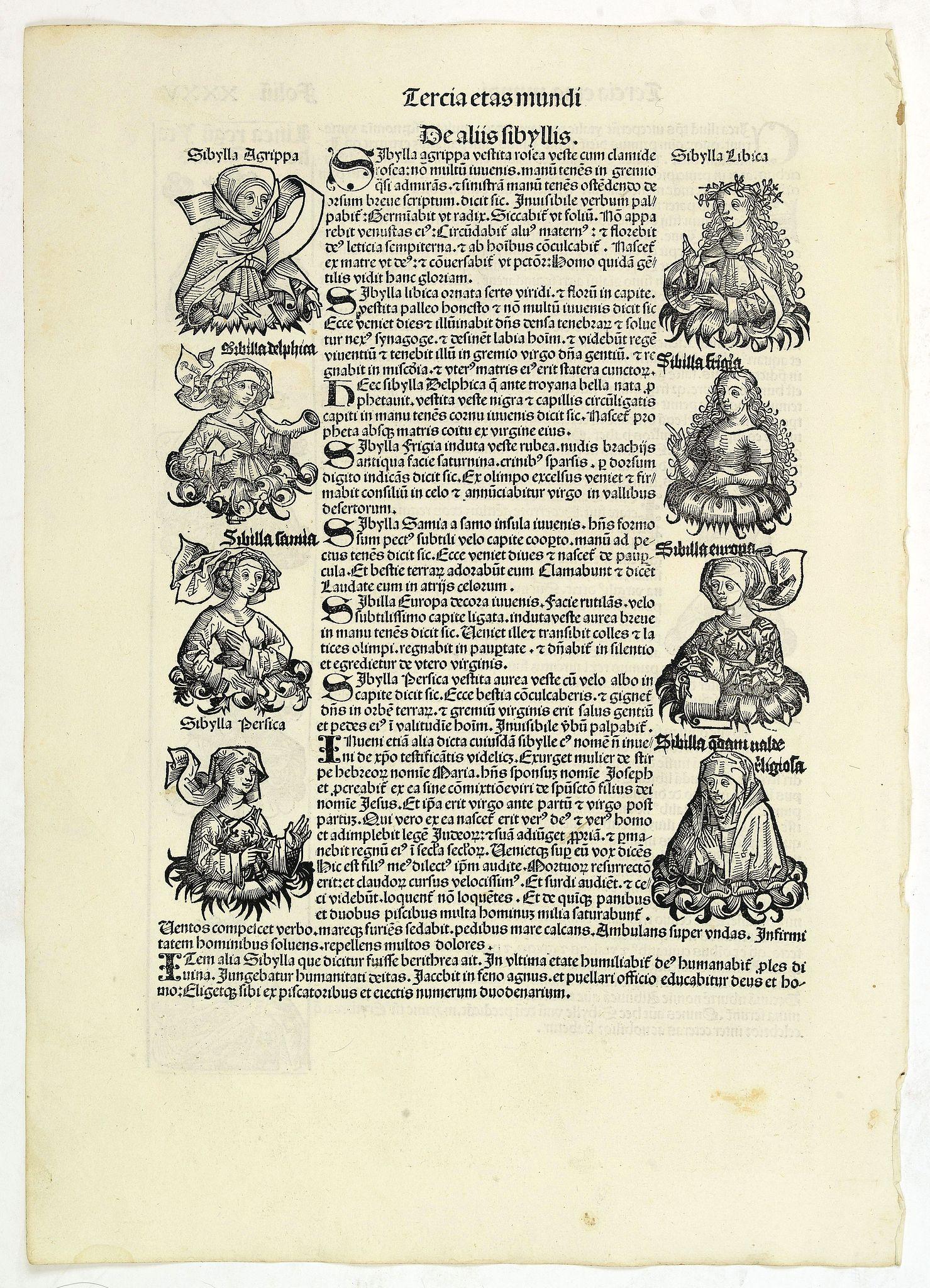 SCHEDEL, H. -  Tercia Etas Mundi. Folium.XXXV