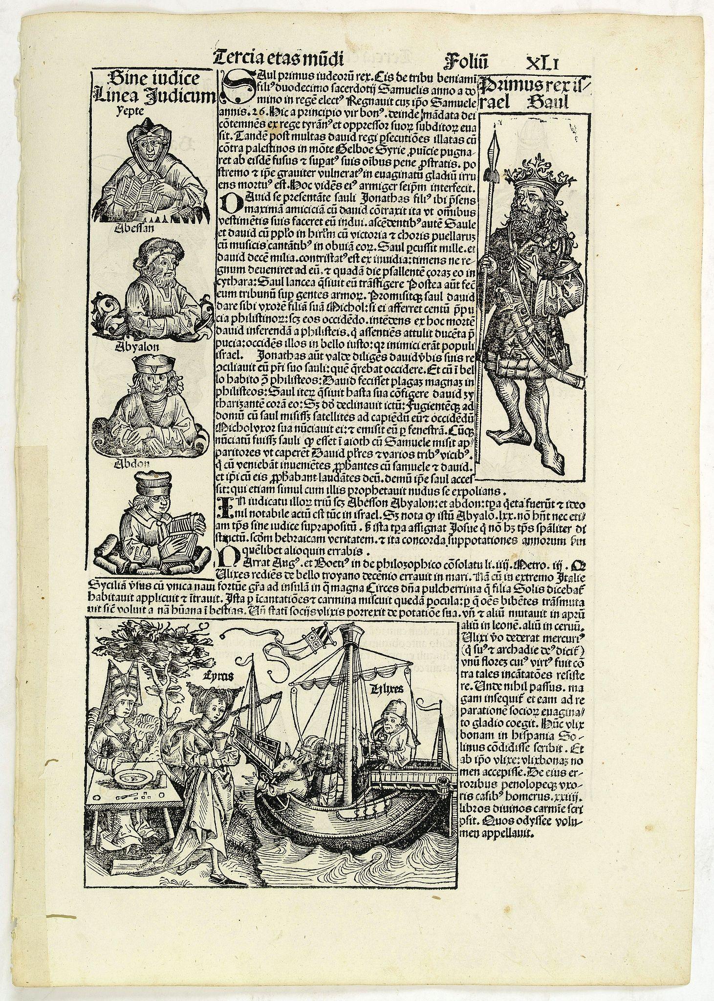 SCHEDEL, H. -  Tercia Etas Mundi. Folium.XLI