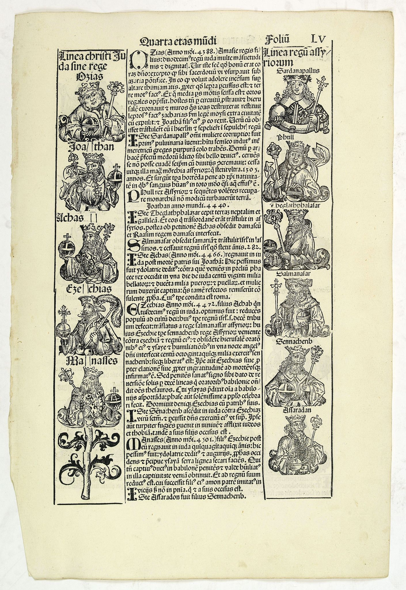 SCHEDEL, H. -  Quarta Etas Mundi. Folium.LV