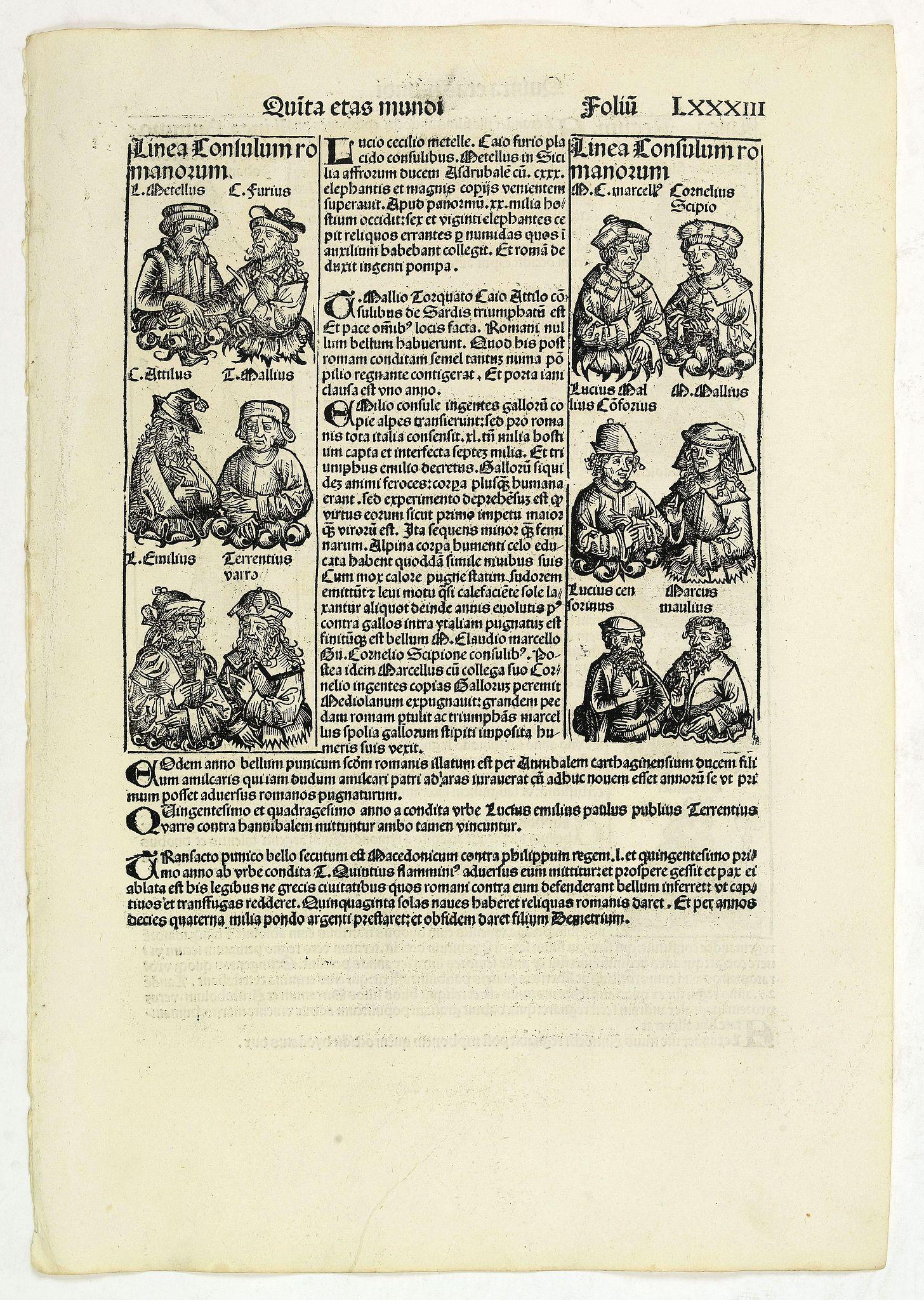 SCHEDEL, H. -  Quita Etas Mundi. Folium.LXXXIII