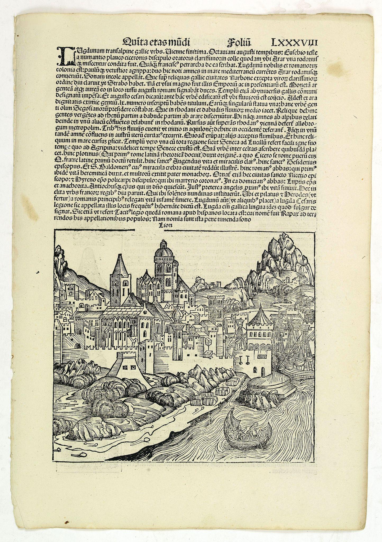SCHEDEL, H. -  Quita Etas Mundi. Folium.LXXXVIII