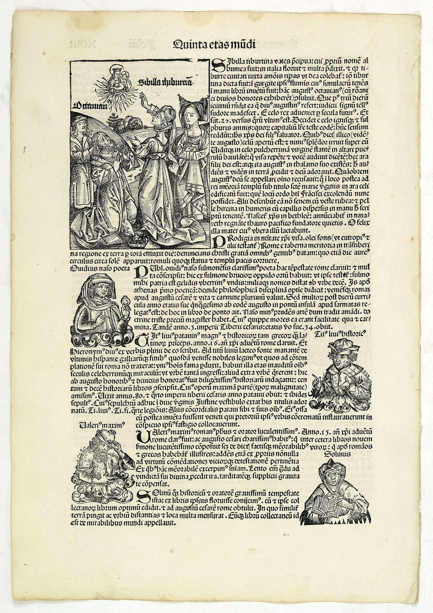 SCHEDEL, H. -  Quinta Etas Mundi. Folium.XCIII.