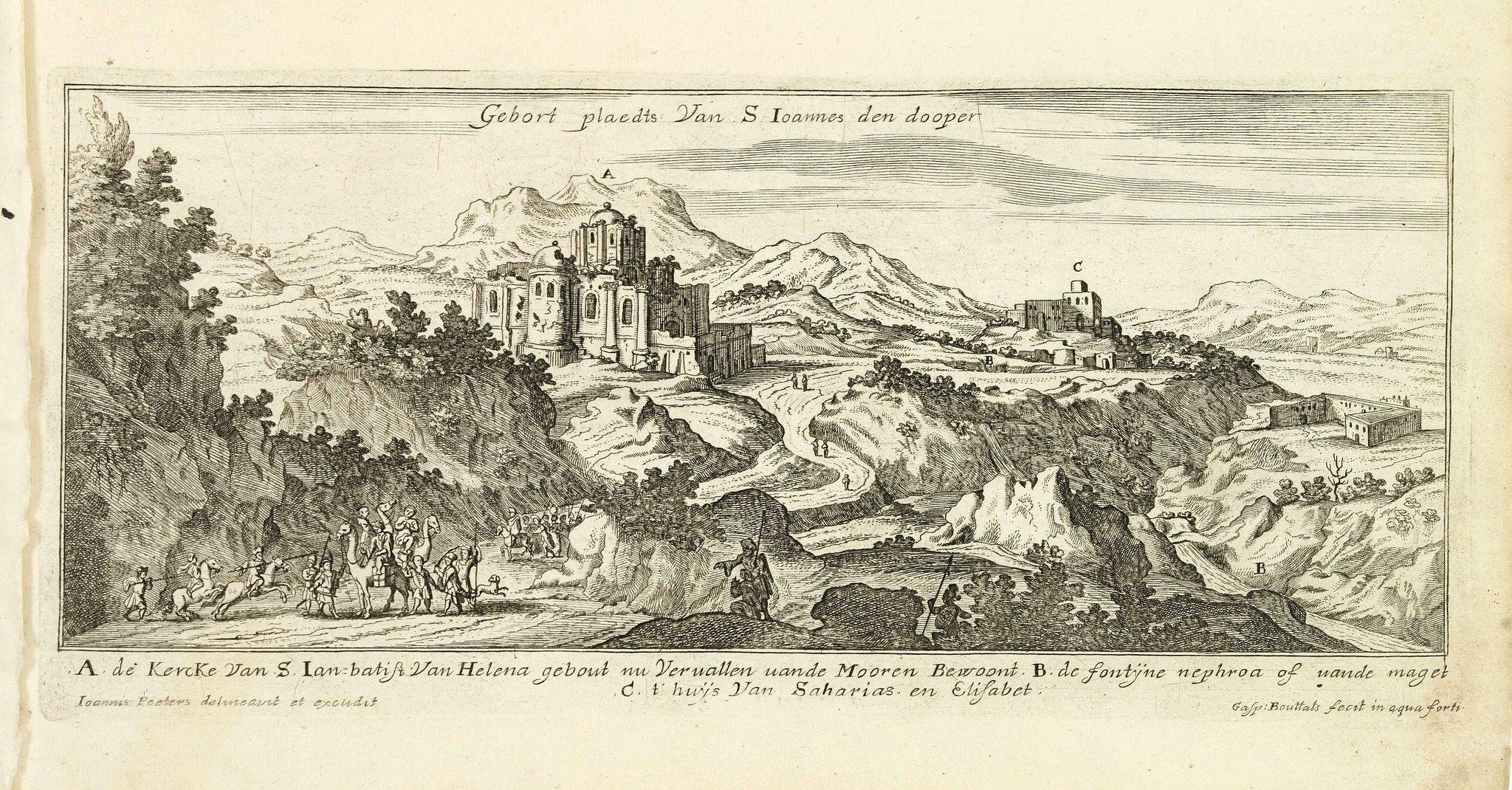 PEETERS, J. / BOUTTATS, G. -  Gebort Plaedt Van S Ioannes des dooper. [Bith place of John Baptist)