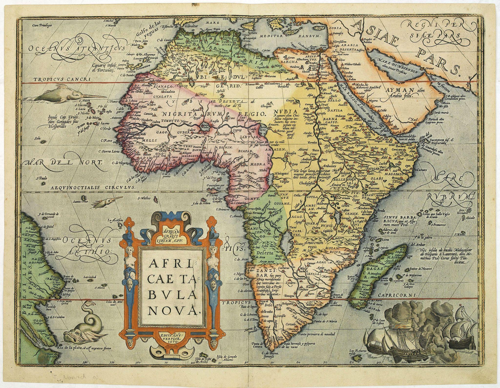 ORTELIUS, A. -  Africae Tabula Nova.