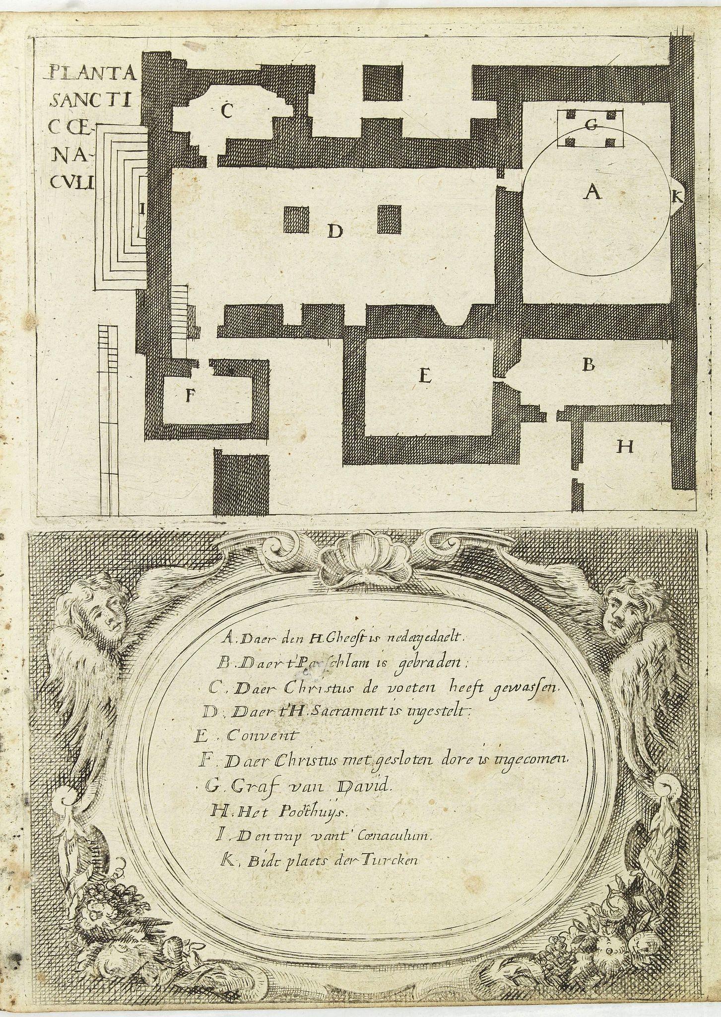 GONSALES, A -  [Illustration from Hierusalemsche Reyse.] Planta sancticce naculi.
