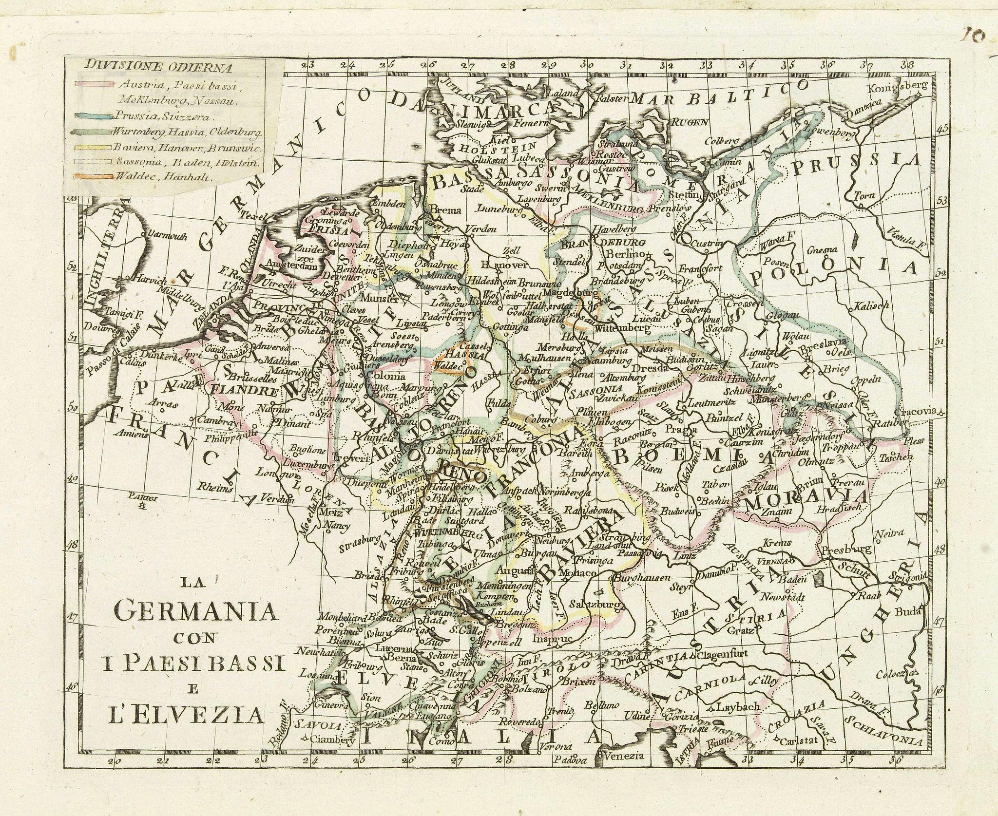 OLIVIERI -  La germania con i Paesibassi e l'elvezia.