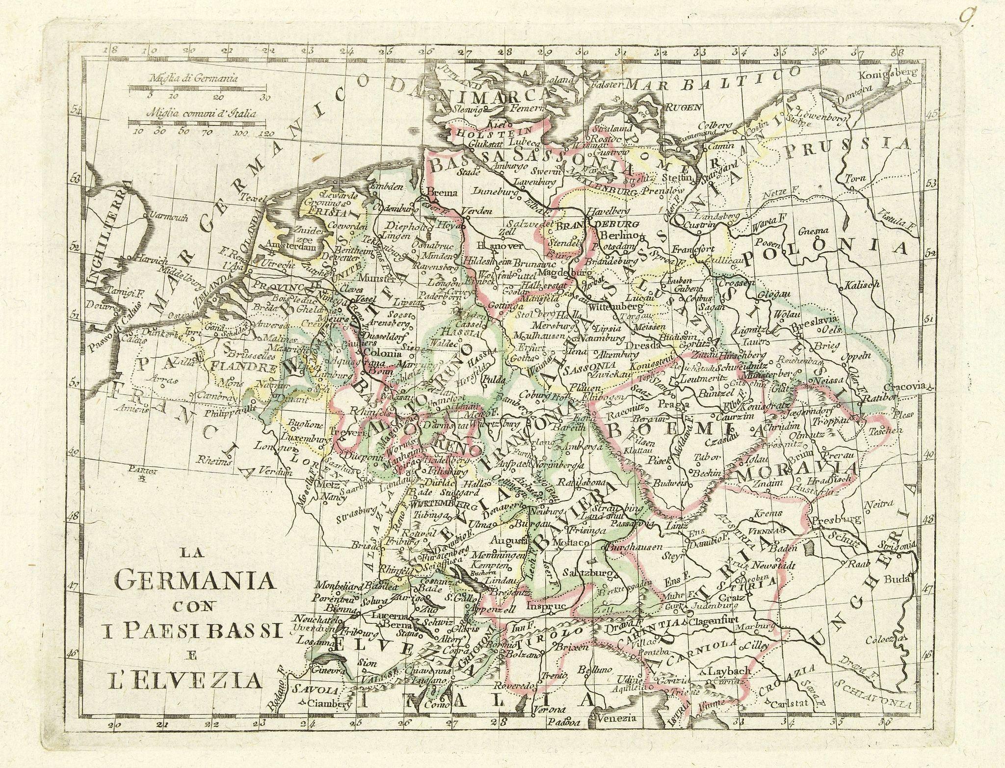 OLIVIERI -  La germania con i paesi bassi e l'elvezia.