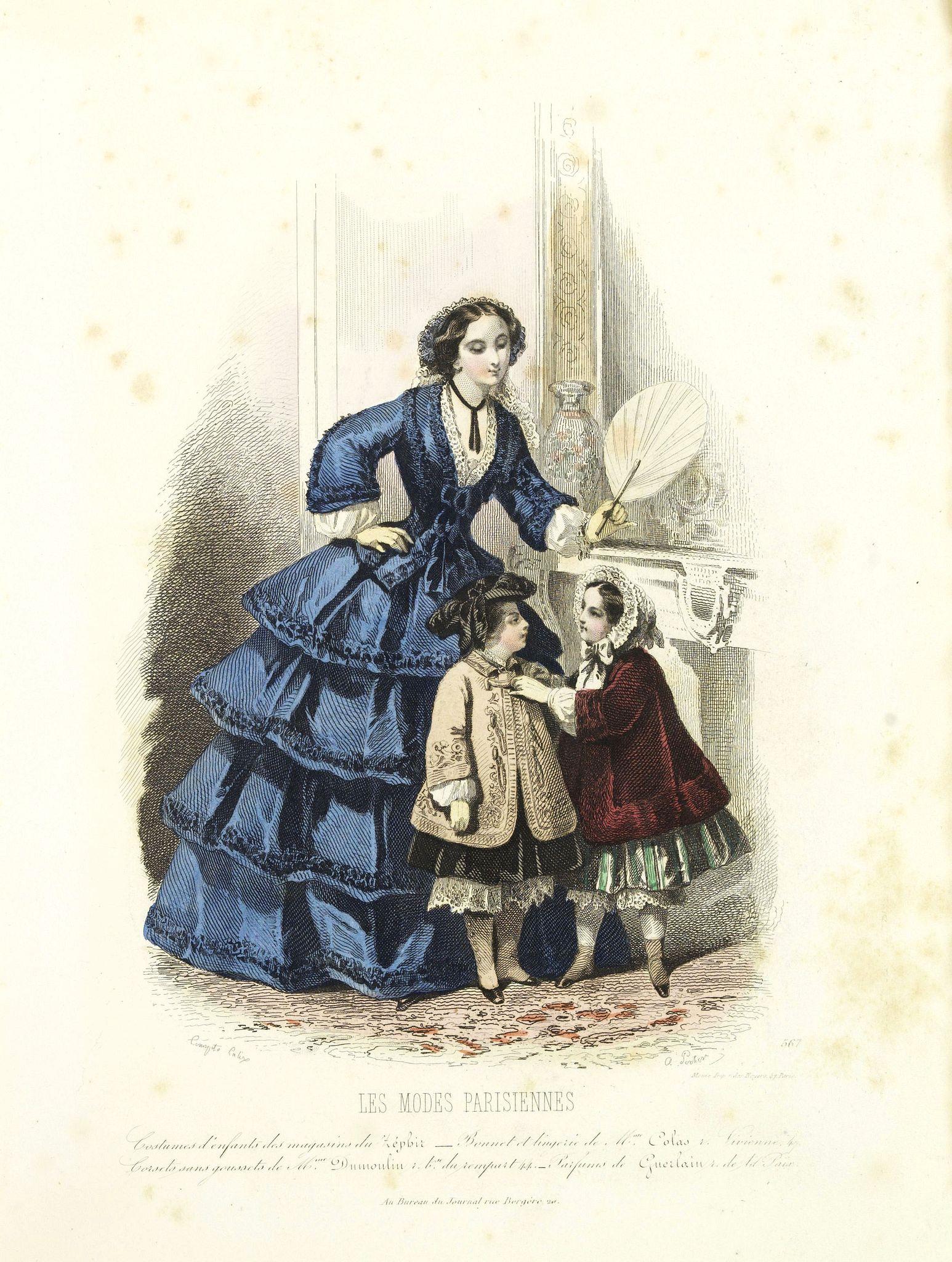 LES MODES PARISIENNES -  Paris fashion plate. (567)