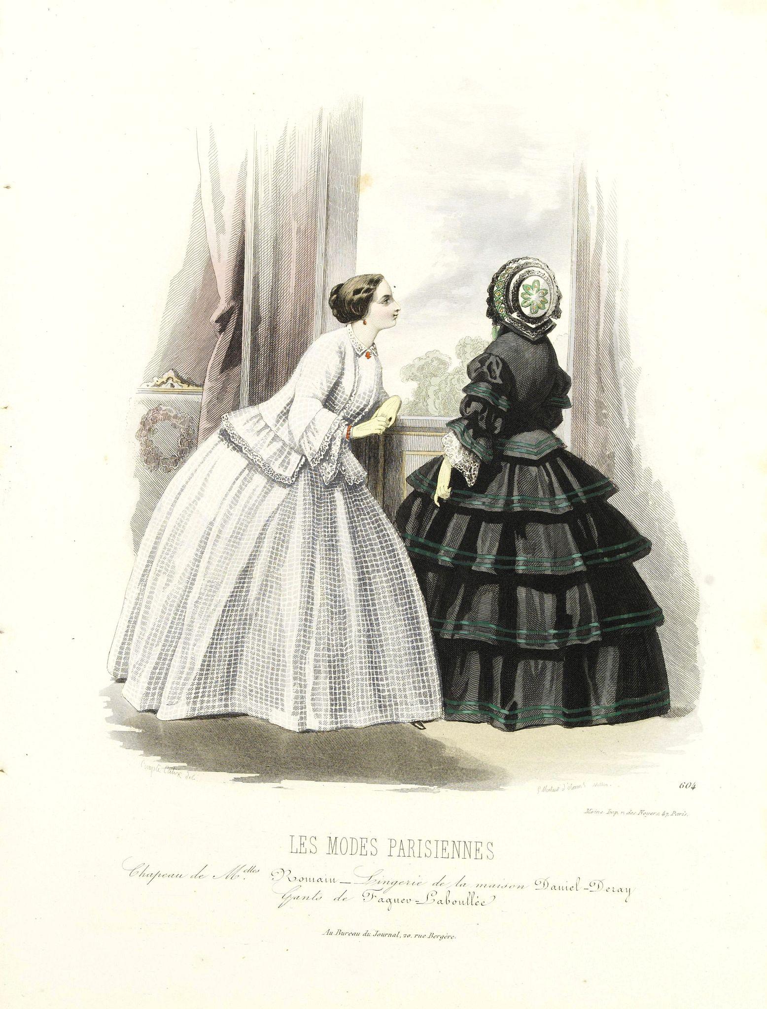LES MODES PARISIENNES -  Paris fashion plate. (604)