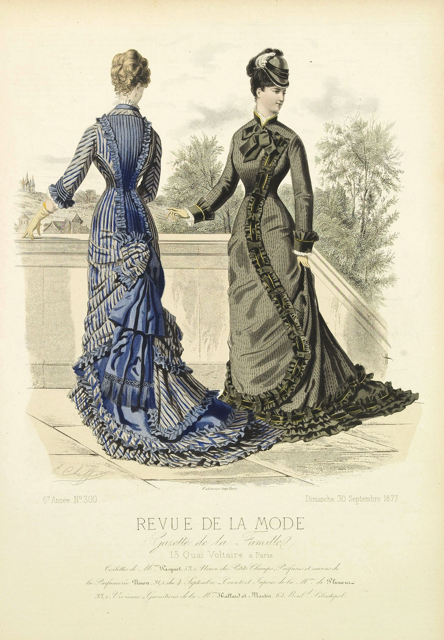 REVUE DE LA MODE -  Paris fashion plate. (300)