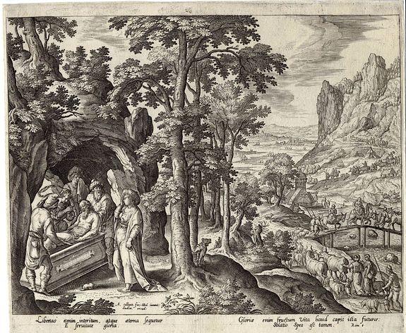 Adriaen Collaert (1560-1618), Hans Bol(1534-1593) -  The Course of All God's Creatures.