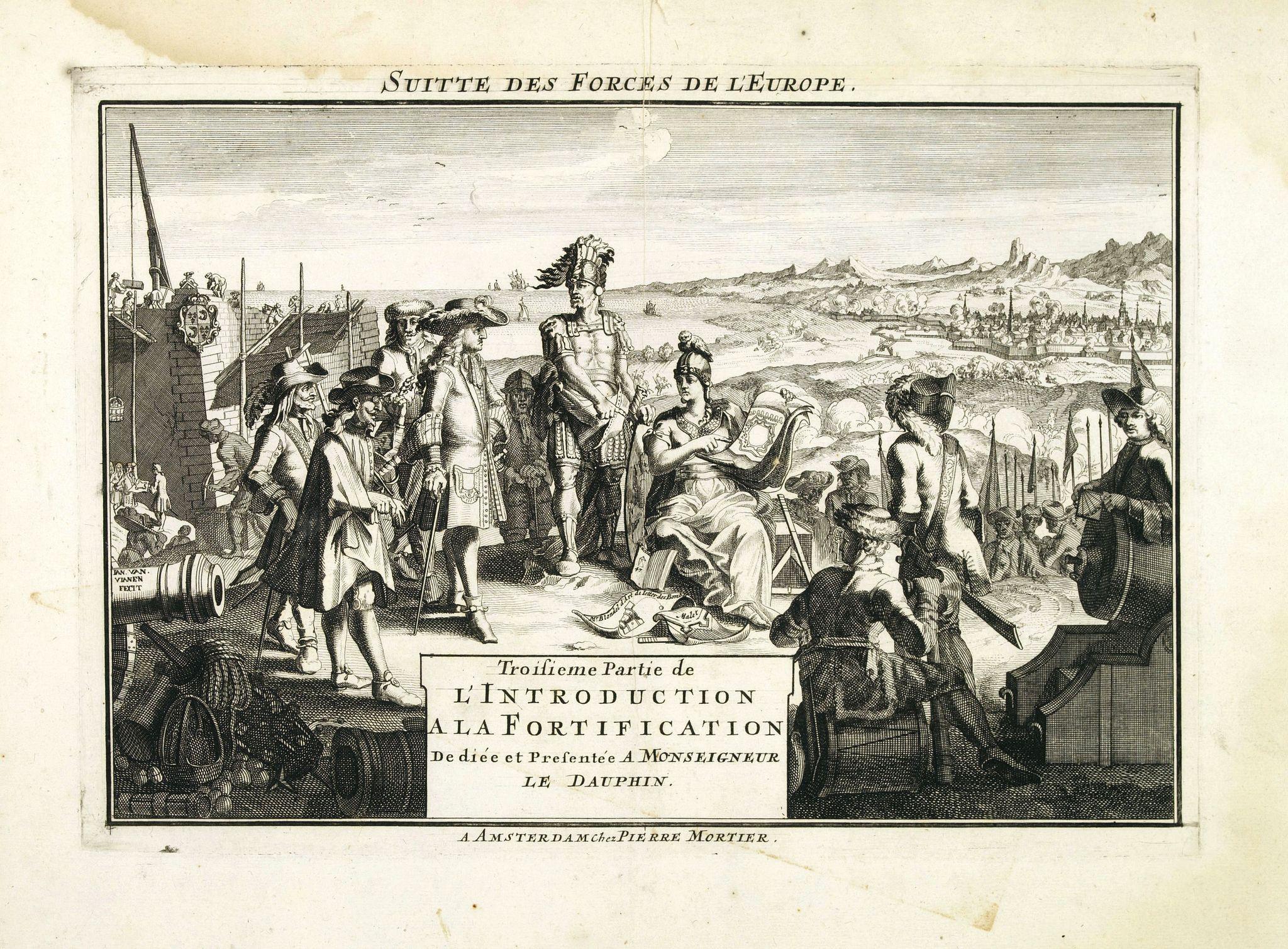 FER, N de / MORTIER, P. -  (Title page) Troisieme Partie de L'Introduction a la Fortification. . .