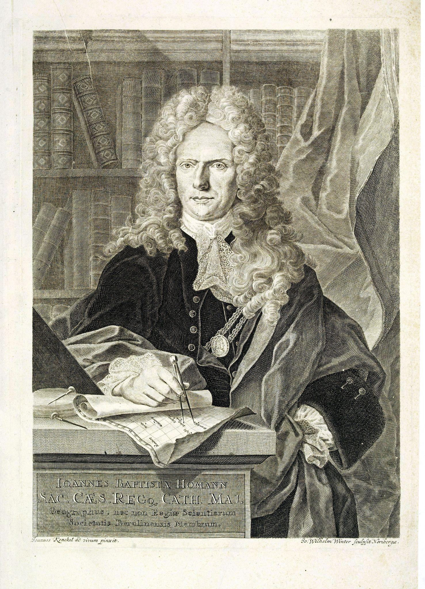 HOMANN, J.B. -  [Portrait] Johannes Baptista Homann . . .