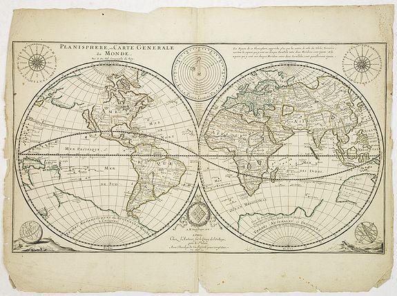 DUVAL, P. -  Planisphere, ou Carte Generale du Monde.