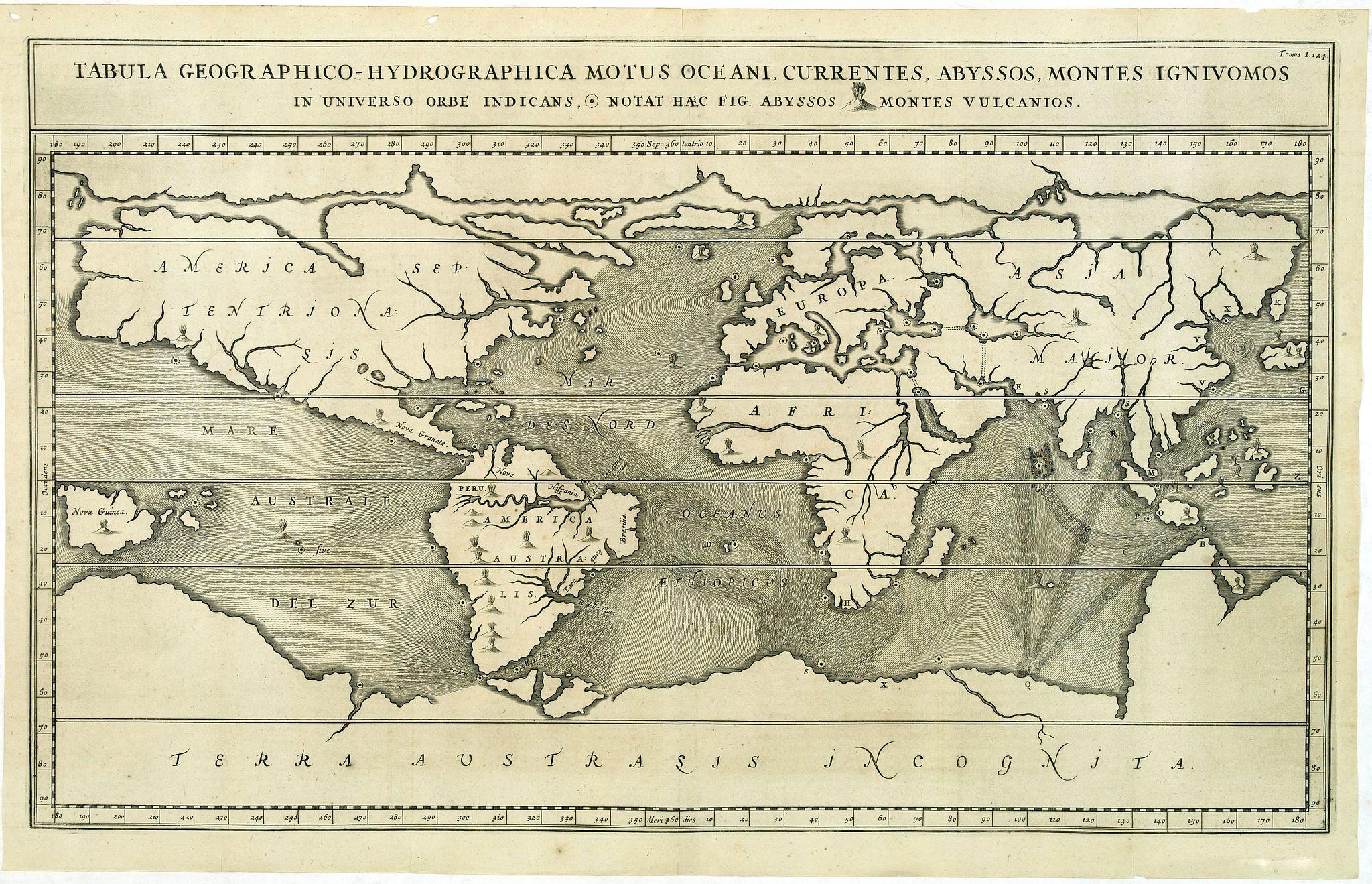KIRCHER, A. -  Tabula geographico-hydrographica..