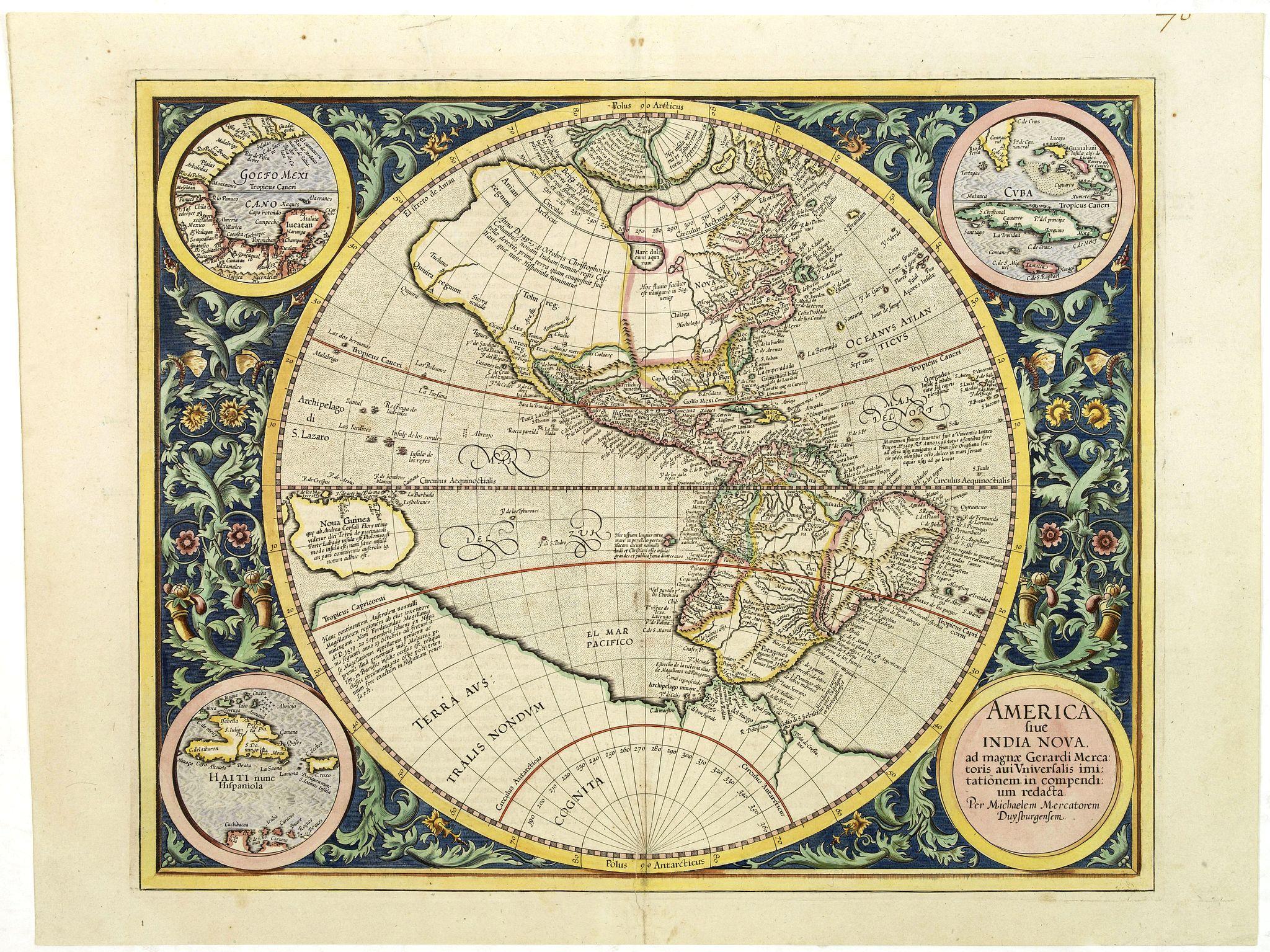 MERCATOR, G./ HONDIUS, J. -  America sive India Nova.