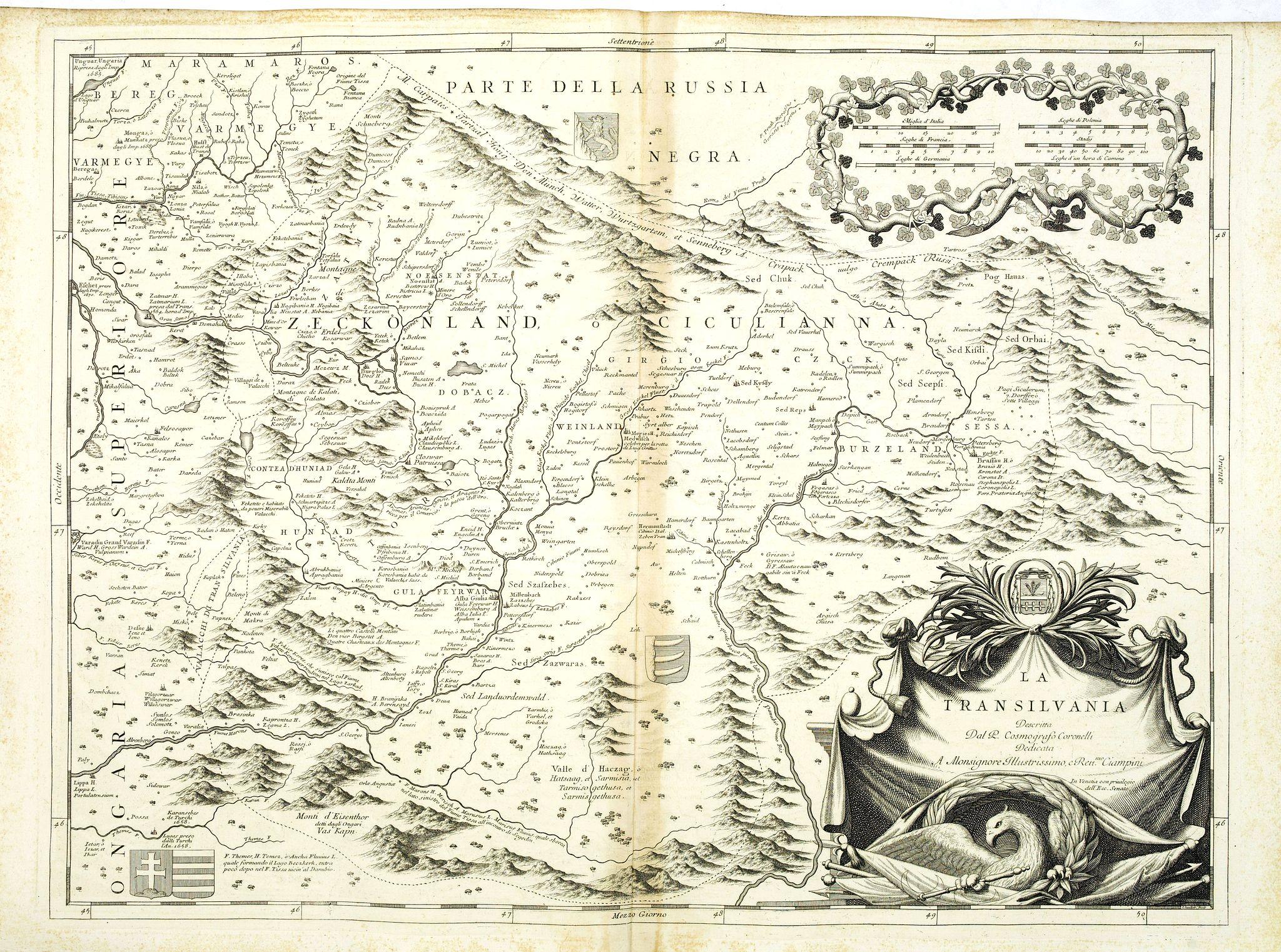 CORONELLI, V.M. -  La Transilvania.