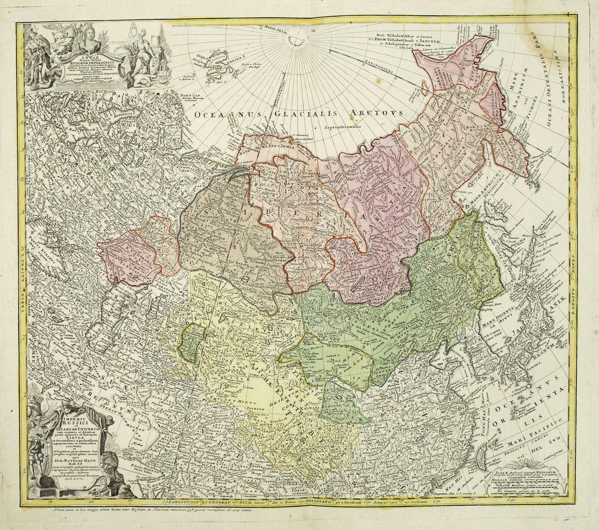 HOMANN HEIRS. -  Imperii Russici et  Tartariae Universae tam majoris Afiaticæ quam minoris et EuropæTabula.