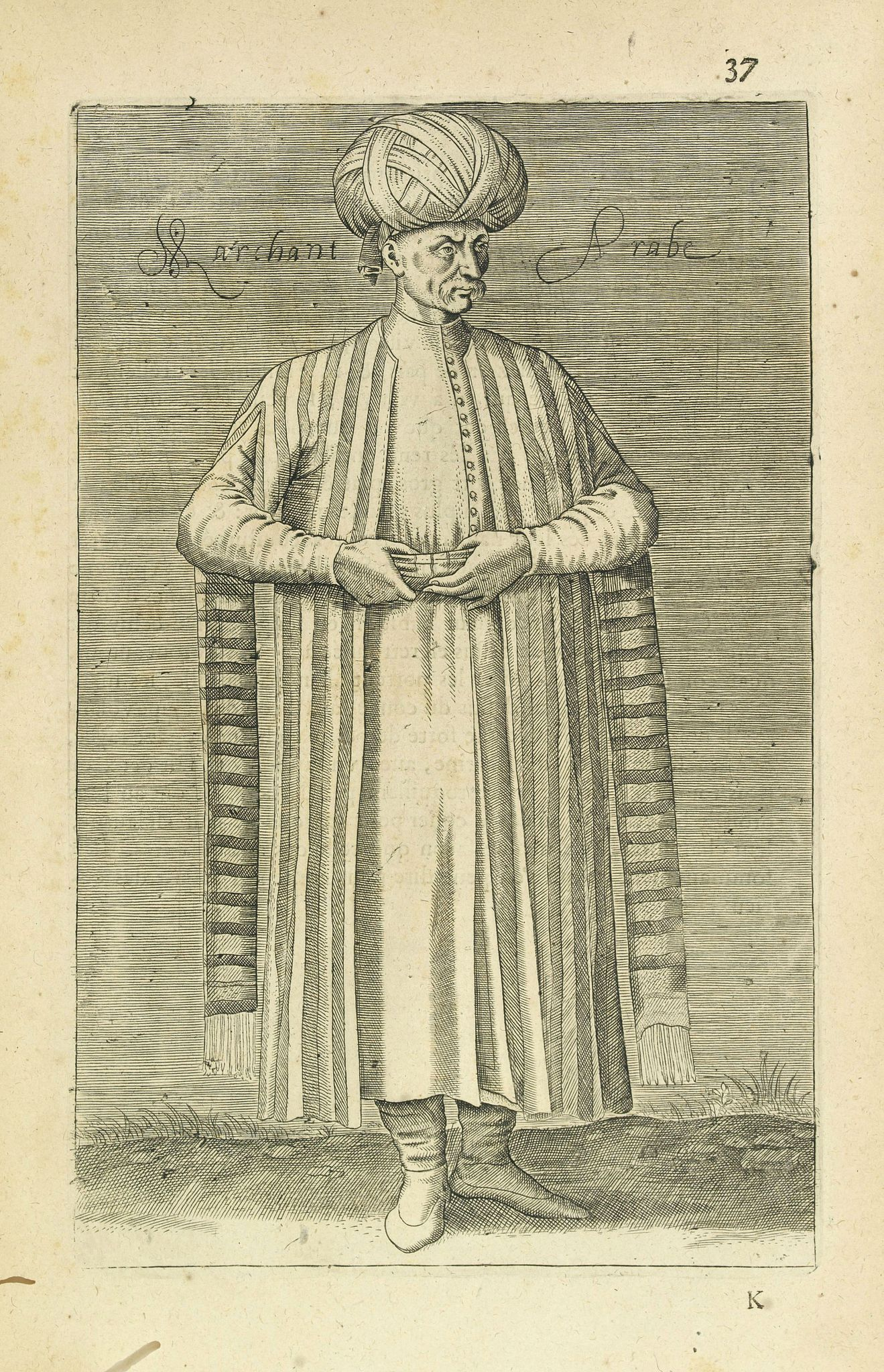 NICOLAS DE NICOLAY, Thomas Artus (sieur d'Embry). -  Marchant Arabe. (37)