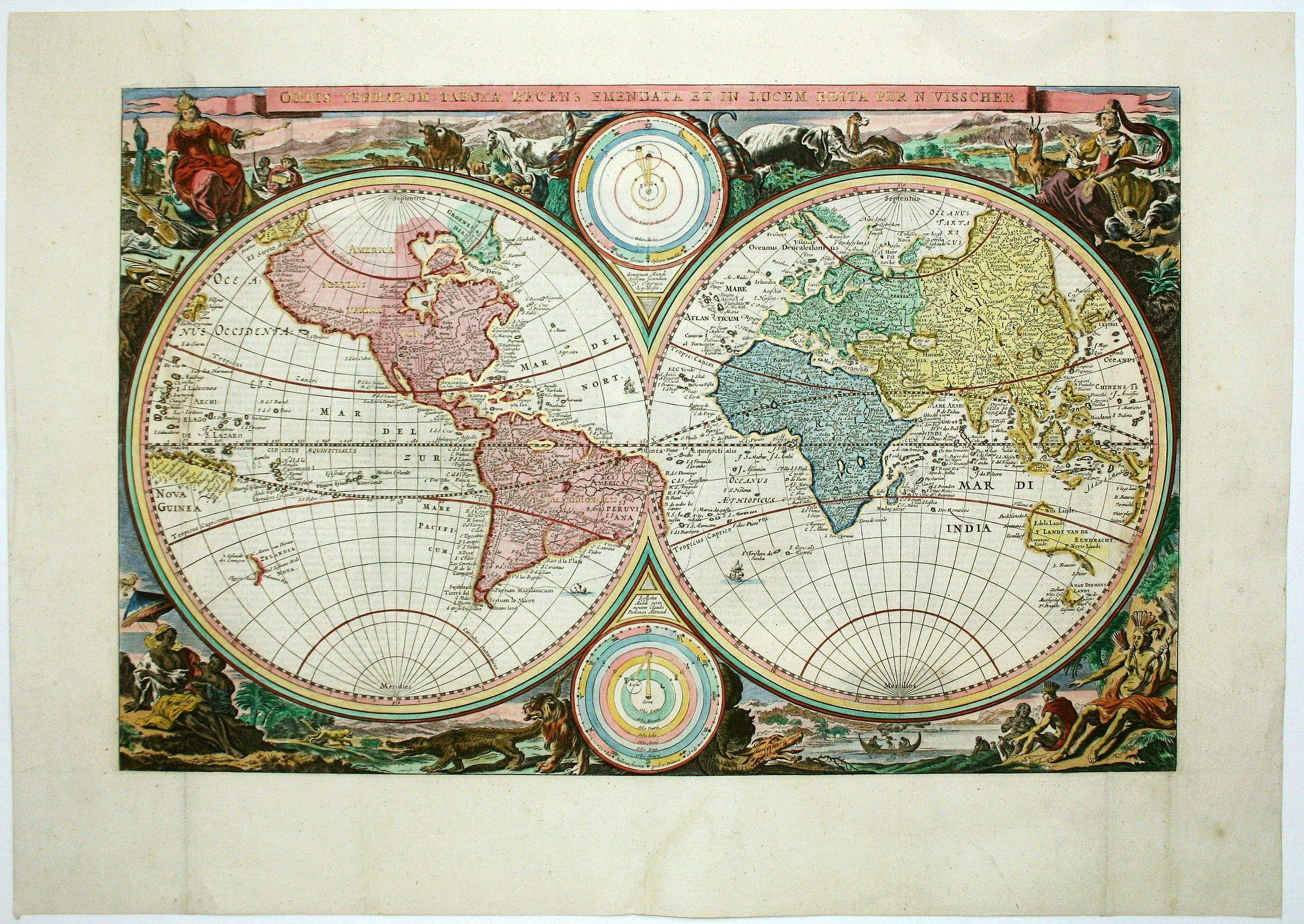 VISSCHER, N. - Orbis Terrarum Tabula. . .