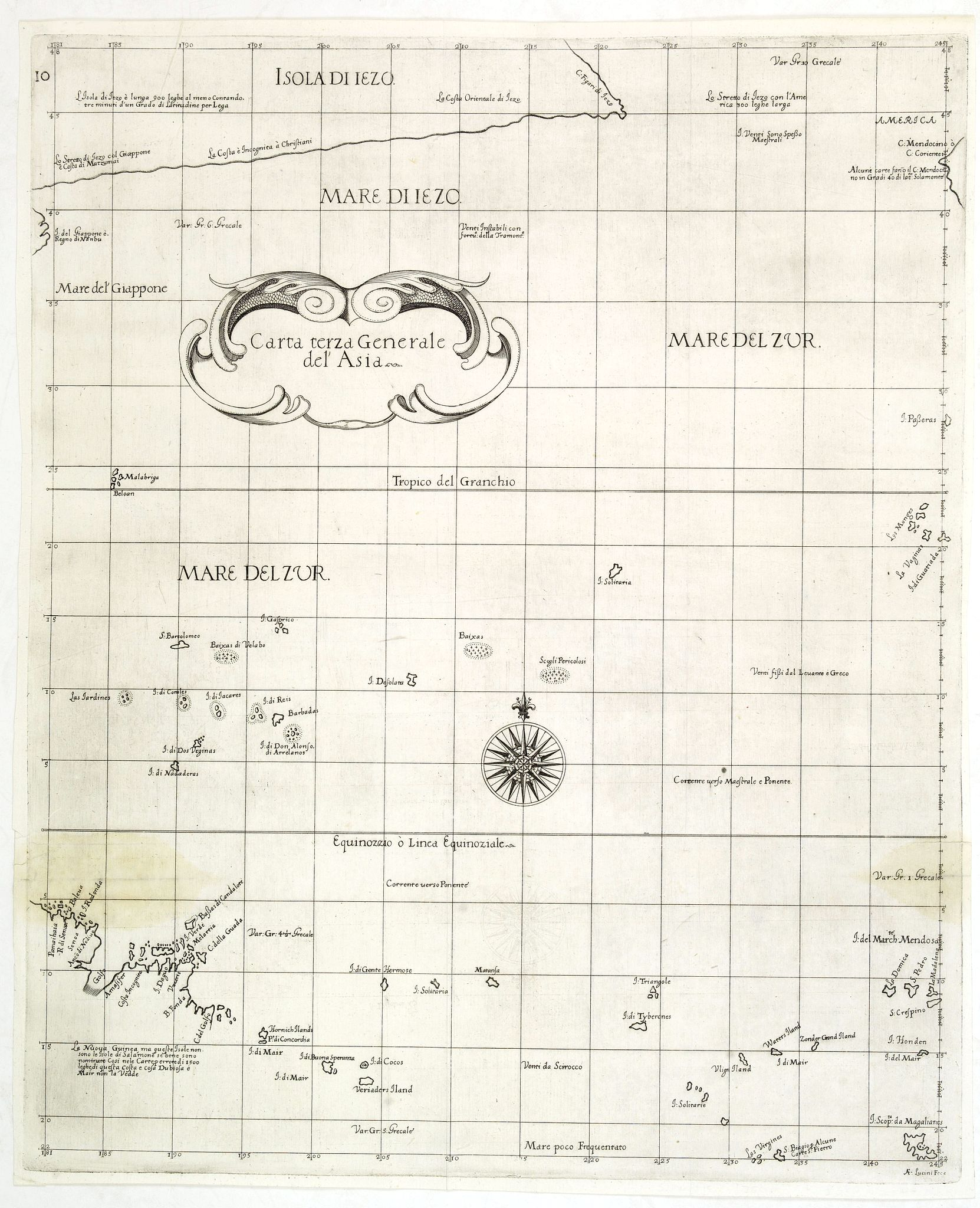 DUDLEY, R. -  Carta terza Generale del' Asia.