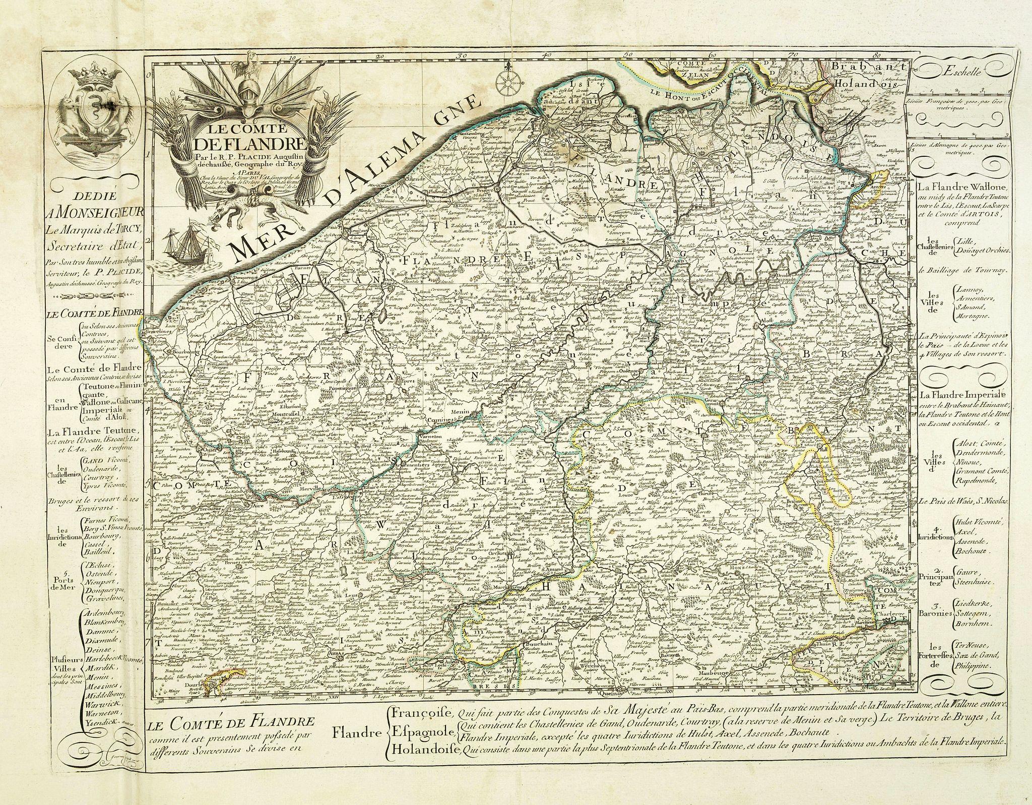 DU VAL, P. -  Le Comté de Flandre par P. Placide Augustin. . .