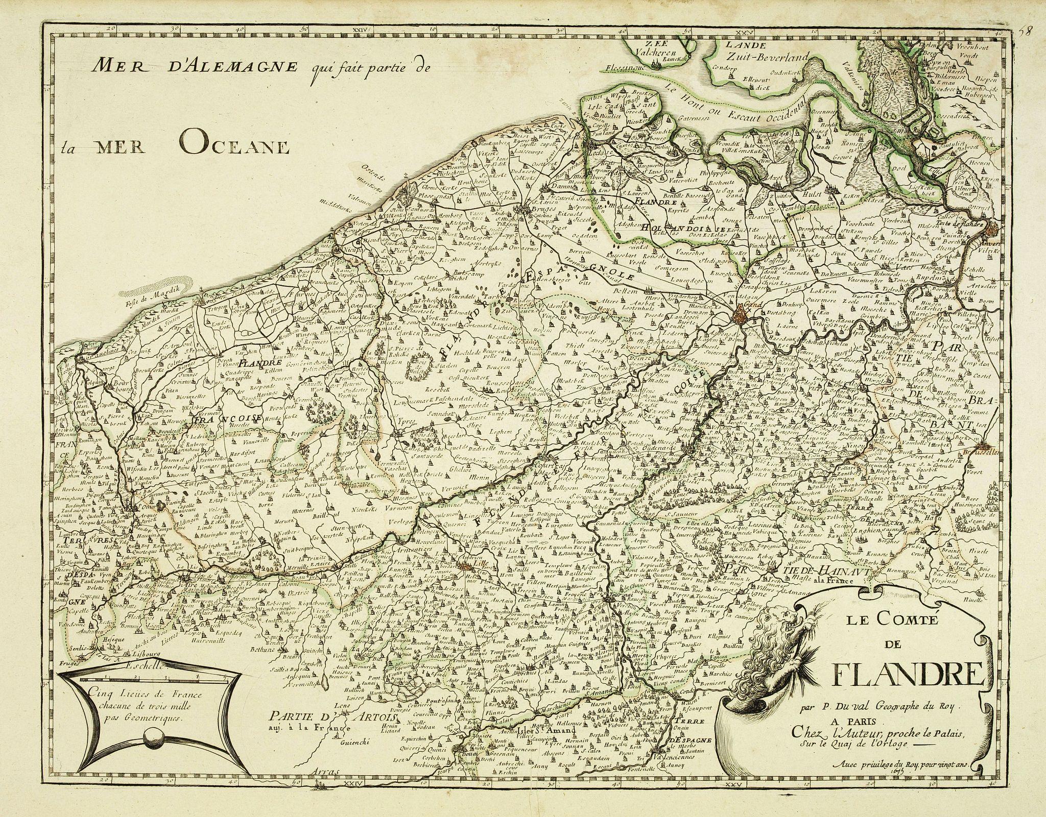 DU VAL, P. -  Le comté de Flandre . . .