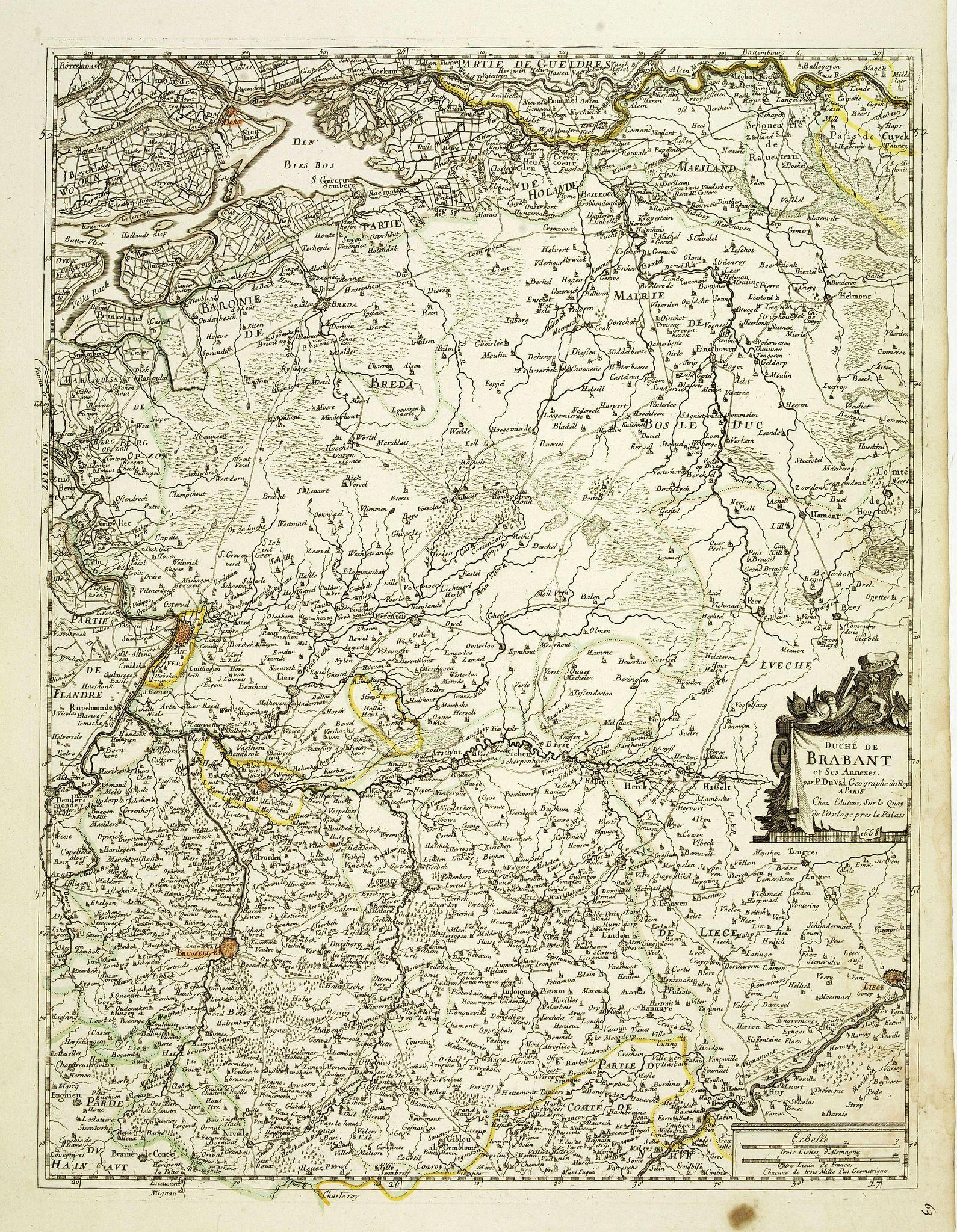 DU VAL, P. -  Duché de Brabant et ses Annexes . . .