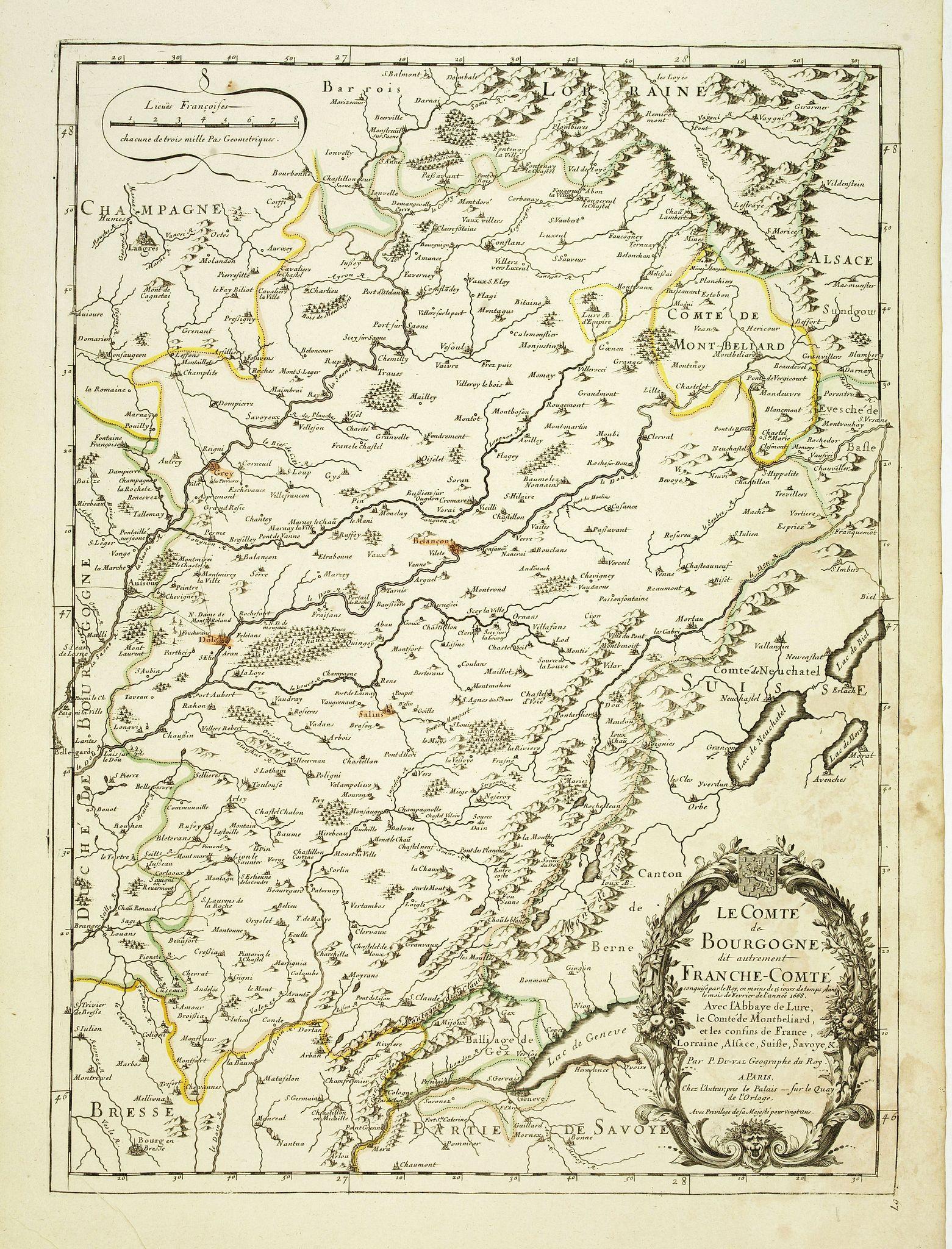 DU VAL, P. -  Le Comte de Bourgogne dit autrement Franche-Comte . . .