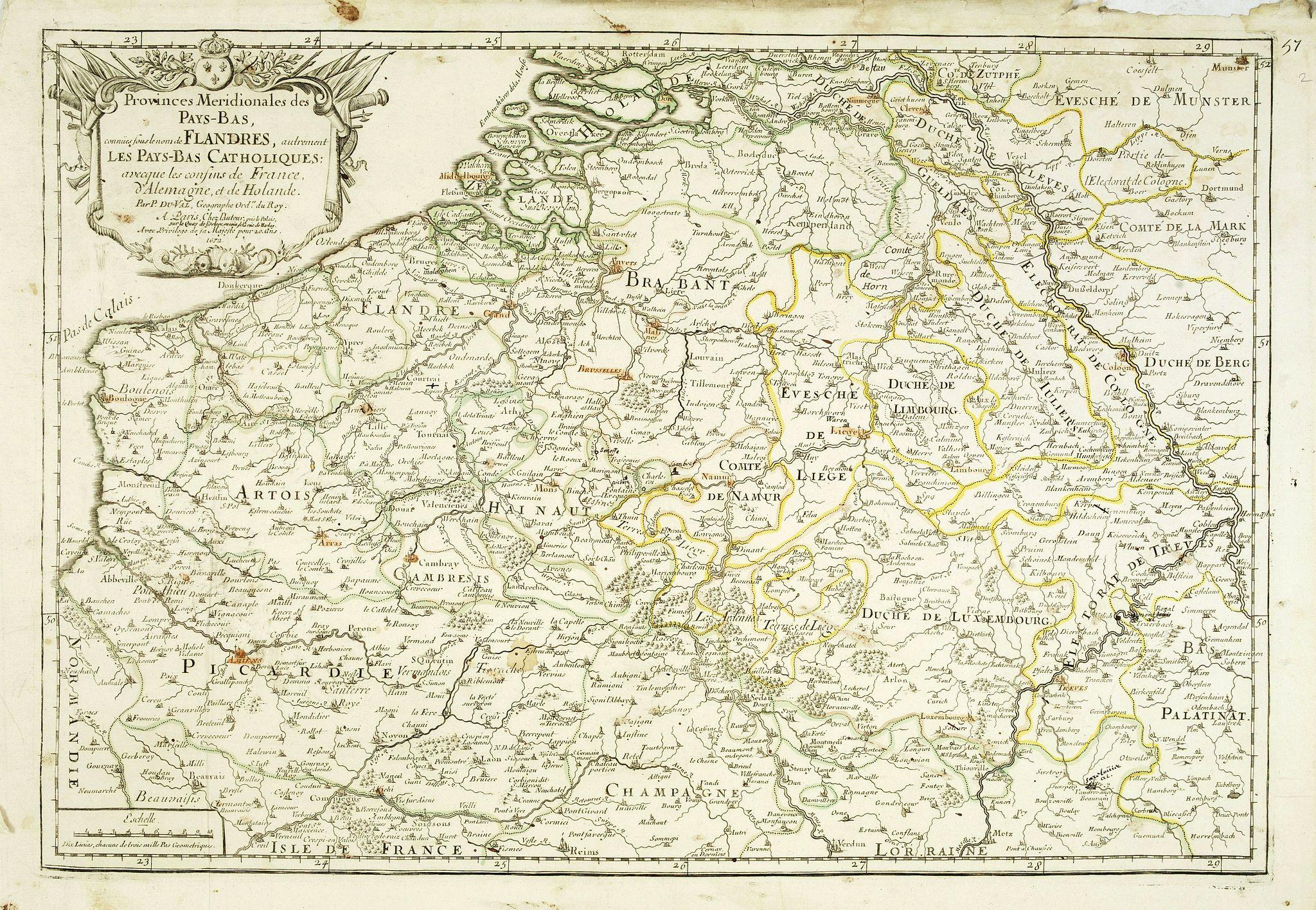 DU VAL, P. -  Provinces meridionales des Pays-Bas connues sous le nom de Flandres, autrement les Pays-Bas Catholiques . . .