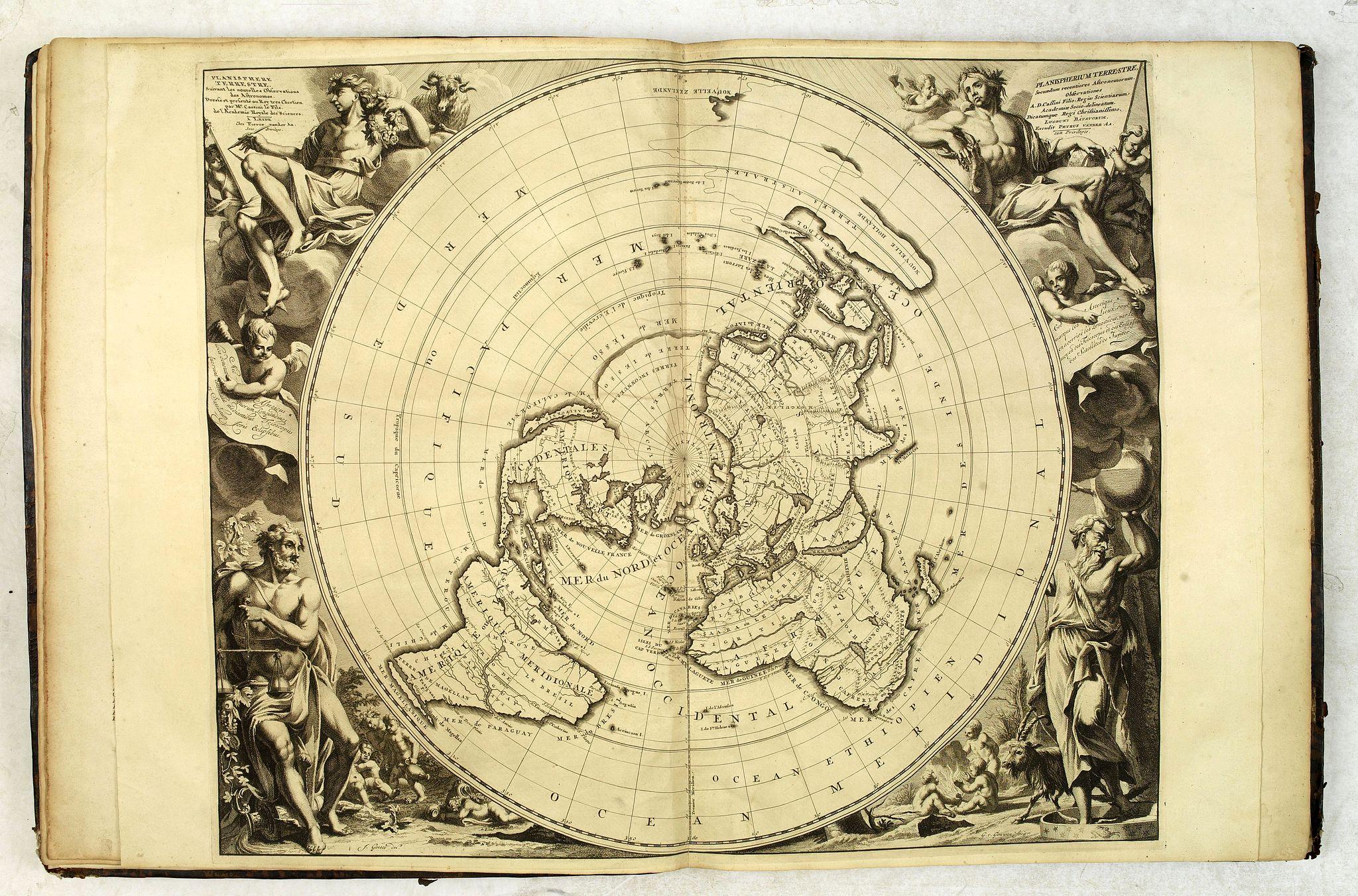 AA, P. van der. -  Le Nouveau Theatre du Monde, ou la Geographie Royale composée de nouvelles cartes tres-exactes..
