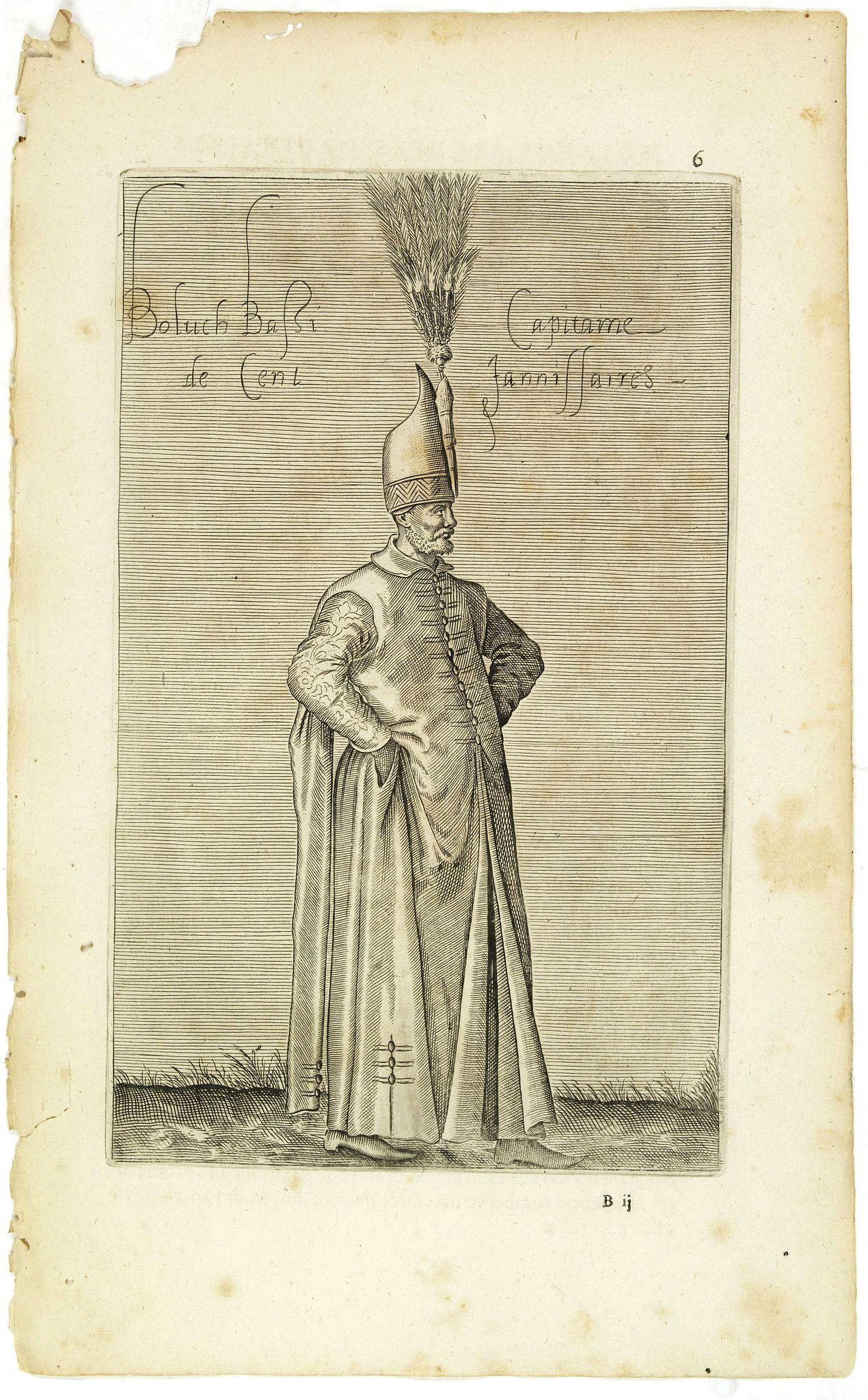NICOLAS DE NICOLAY, Thomas Artus (sieur d'Embry). -  Boluch Bassi Capitaine de Cent Janissaires. (6)