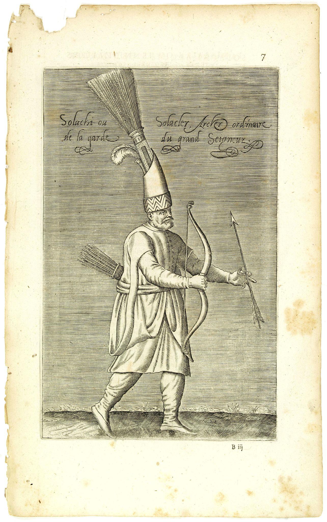 NICOLAS DE NICOLAY, Thomas Artus (sieur d'Embry). -  Solachi ou Solacler, Archer Ordinaire de la Garde du Grand Seigneur. (7)