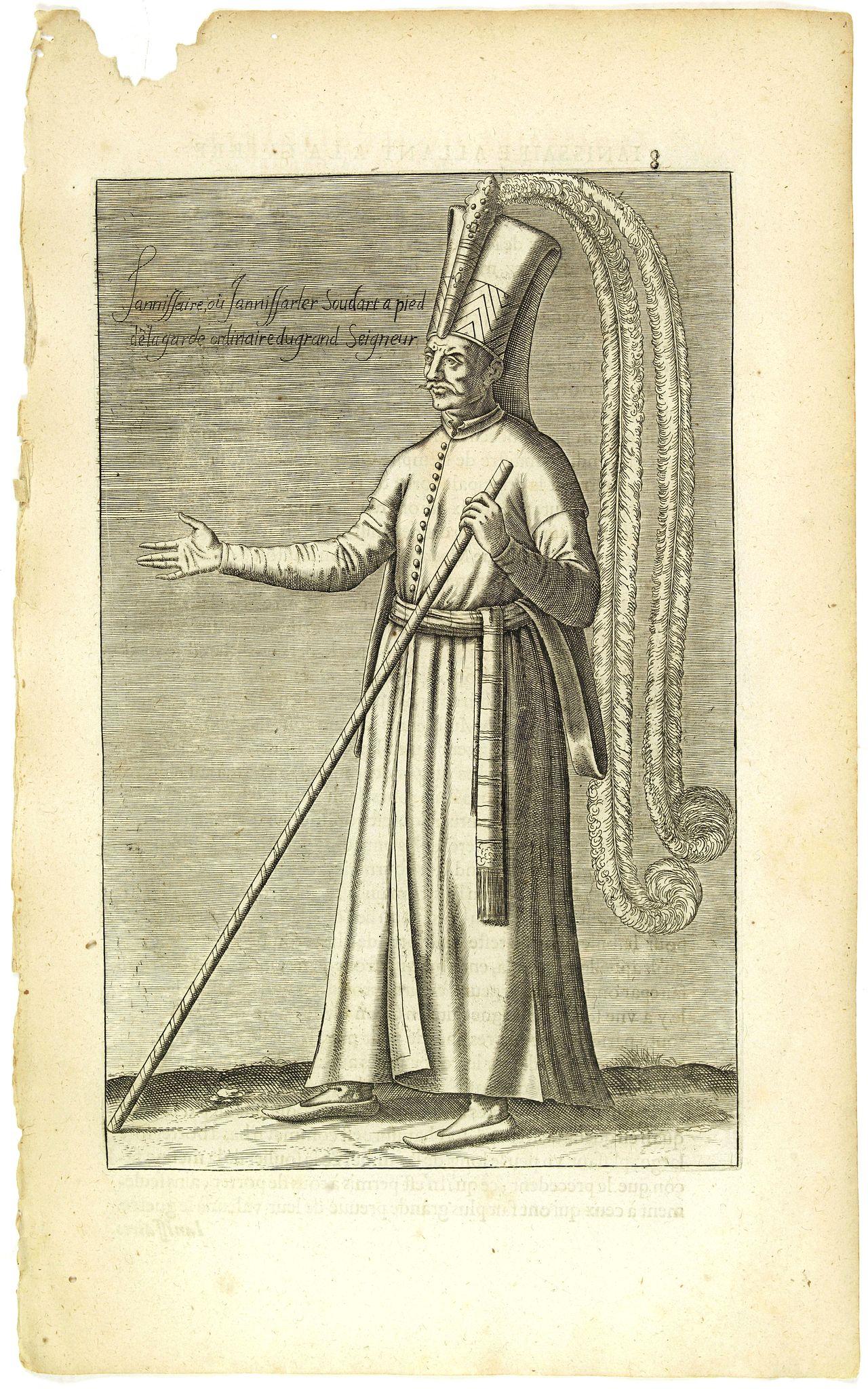 NICOLAS DE NICOLAY, Thomas Artus (sieur d'Embry). -  Iannissaire ou Ianissarler Soudart a Pied de la Garde Ordinaire du Grand Seigneur. (8)