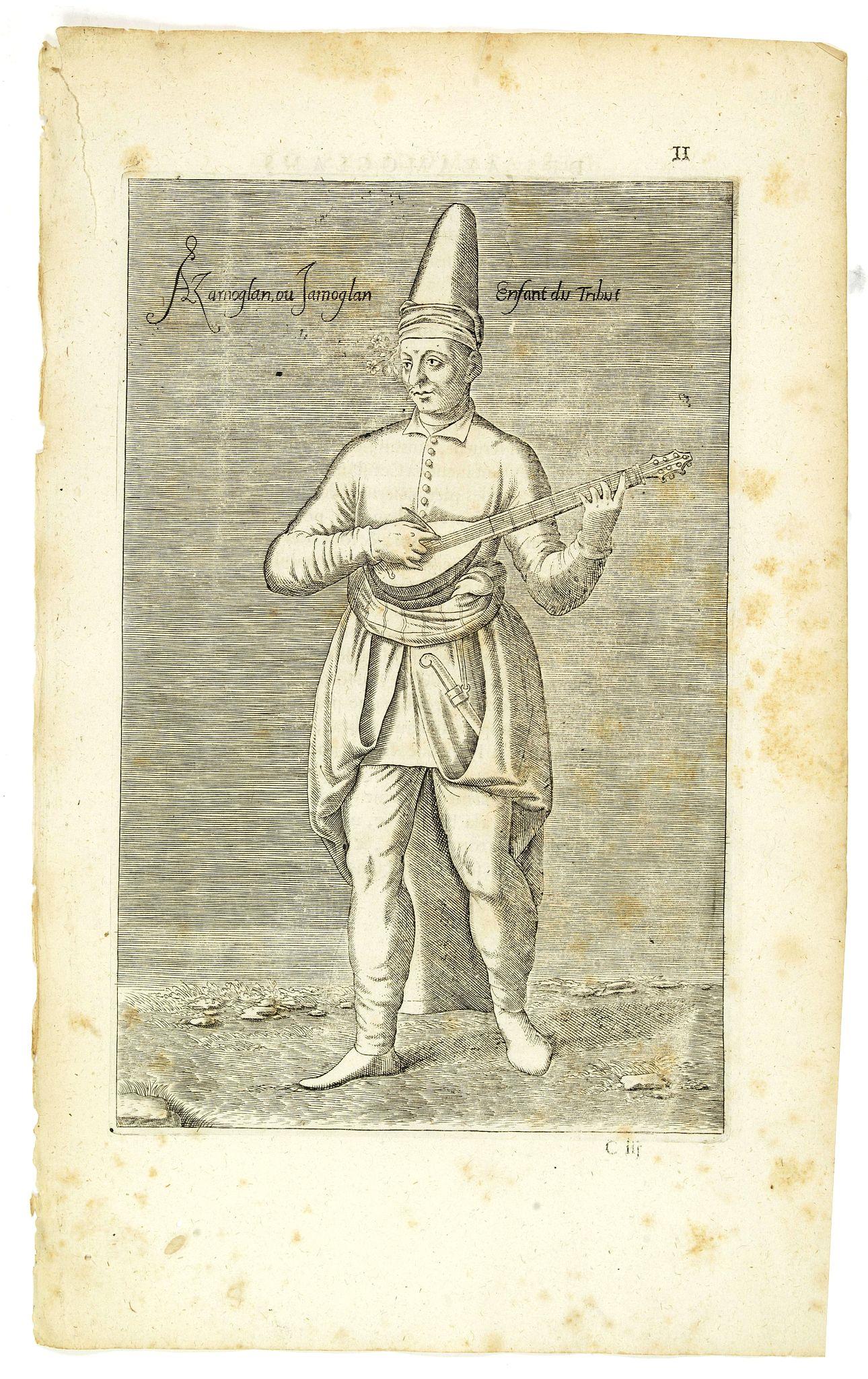 NICOLAS DE NICOLAY, Thomas Artus (sieur d'Embry). -  Azaoglan ou Iamoglan Enfant du tribut. (11)
