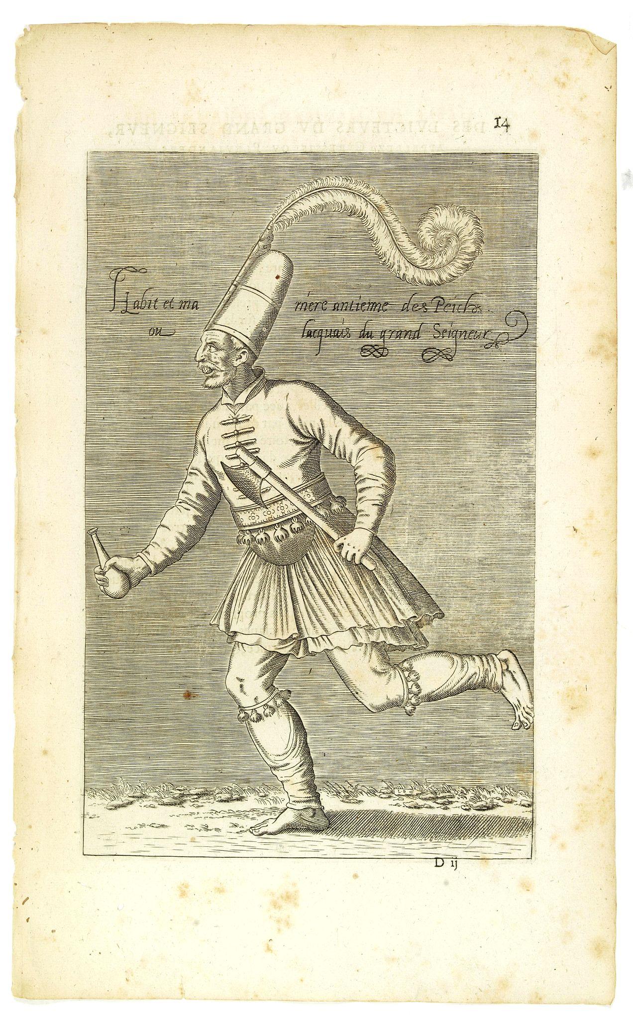 NICOLAS DE NICOLAY, Thomas Artus (sieur d'Embry). -  Habit et Manière ancienne des Peiches ou Laquais du Grand Seigneur. (14)