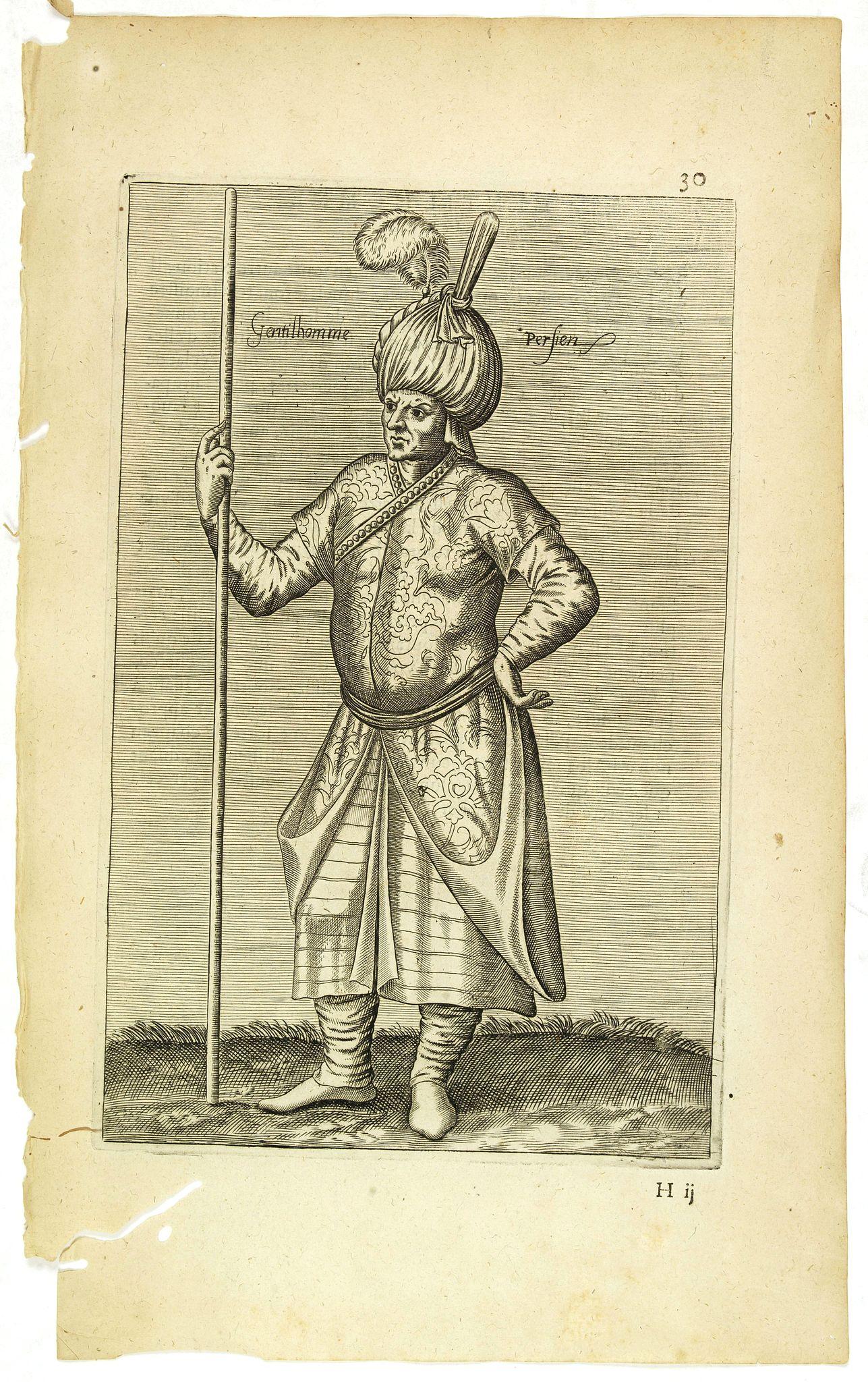 NICOLAS DE NICOLAY, Thomas Artus (sieur d'Embry). -  Gentilhomme Persien. (30)