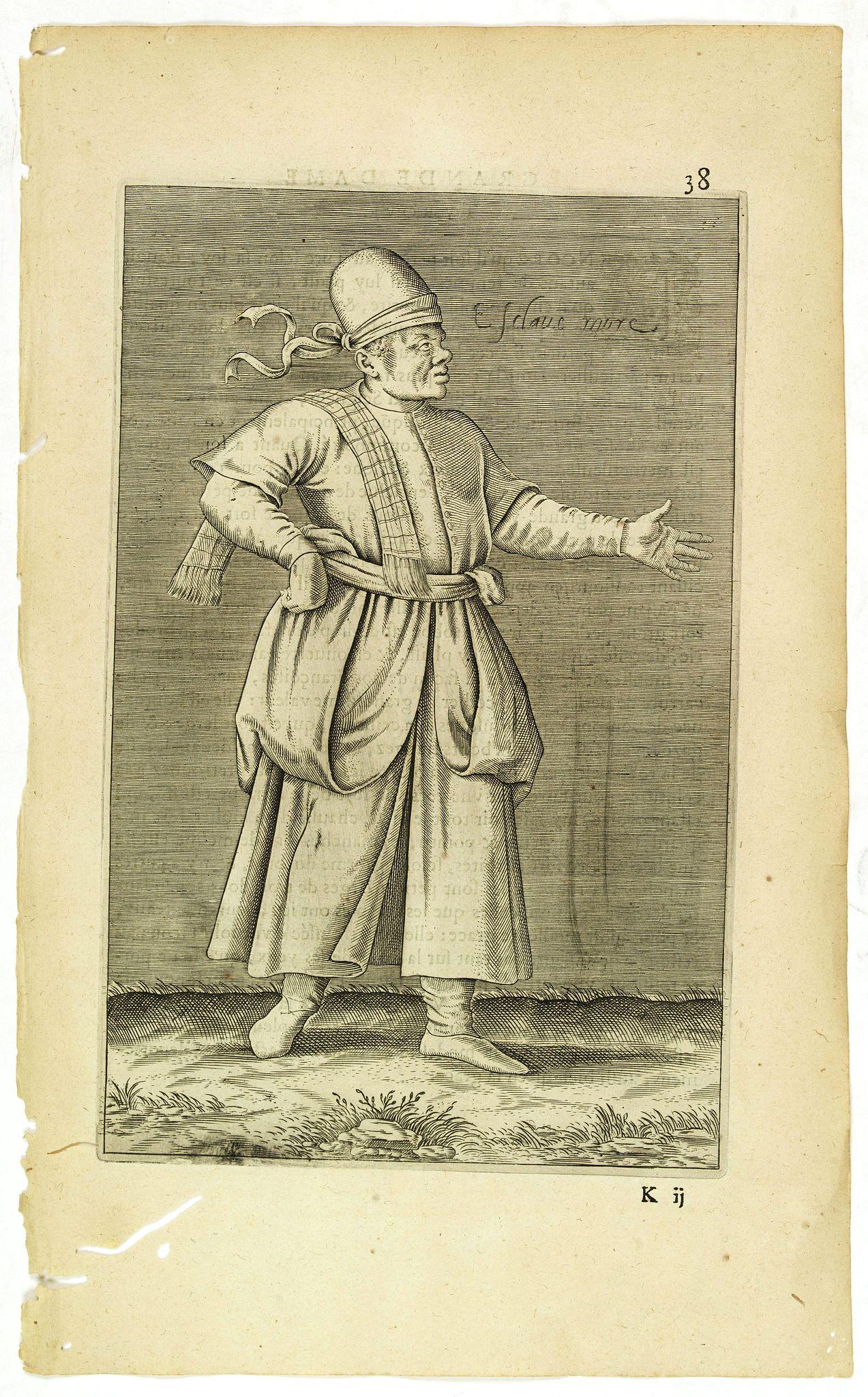 NICOLAS DE NICOLAY, Thomas Artus (sieur d'Embry). -  Esclave More. (38)