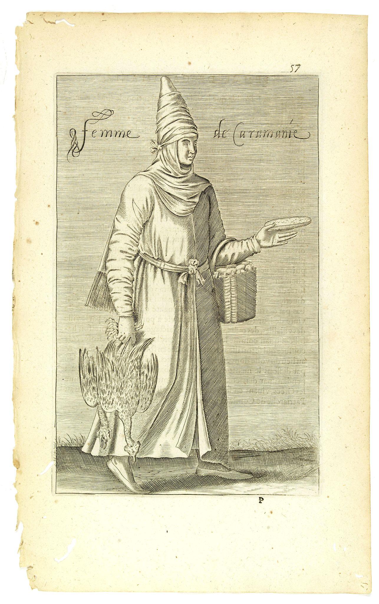 NICOLAS DE NICOLAY, Thomas Artus (sieur d'Embry). -  Femme de la Caramanie. (57)