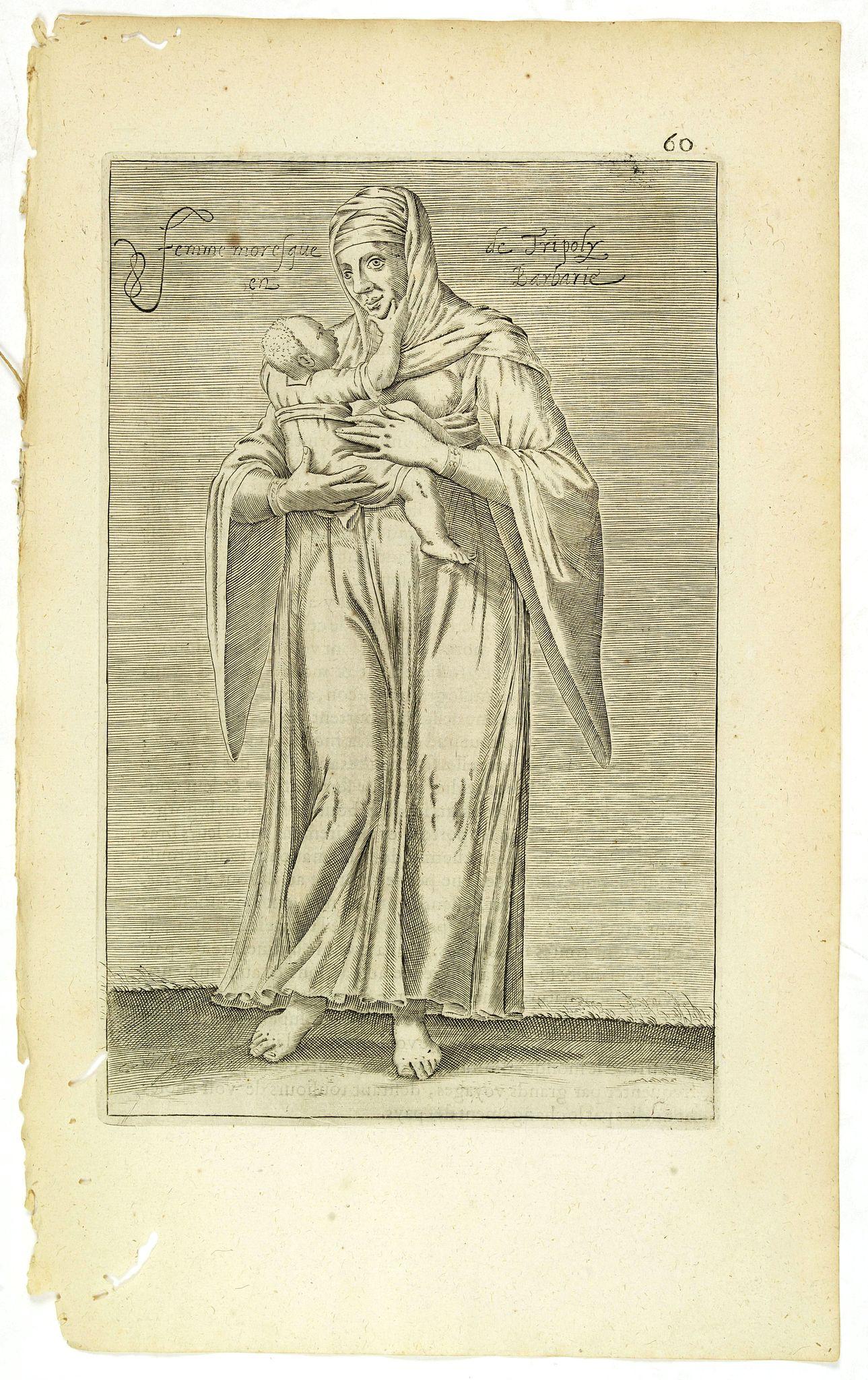 NICOLAS DE NICOLAY, Thomas Artus (sieur d'Embry). -  Femme moresque de Tripoly en Barbarie. (60)