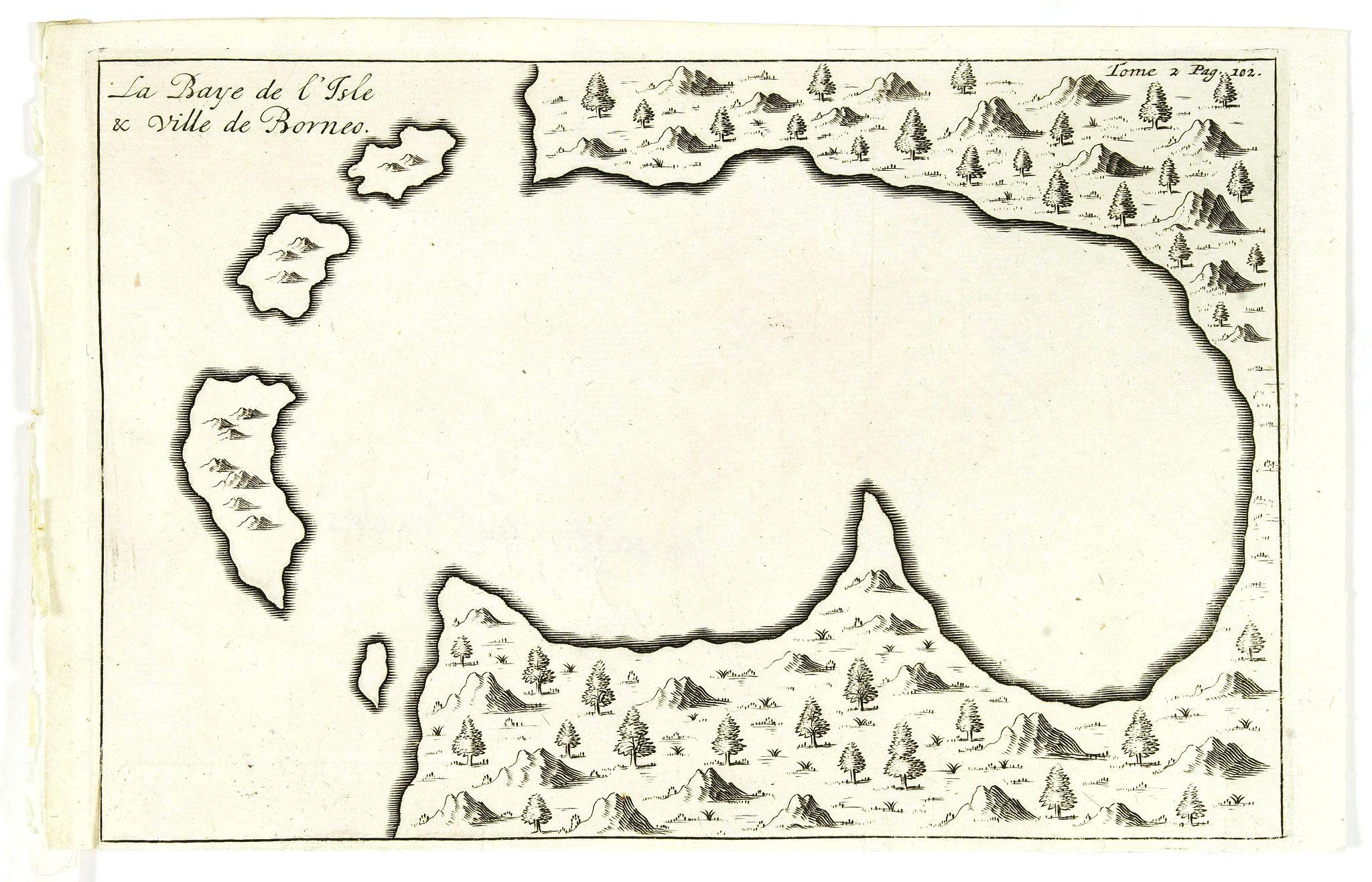 DE RENNEVILLE, R.A.C. -  La Baye de l'Isle & ville de Borneo.
