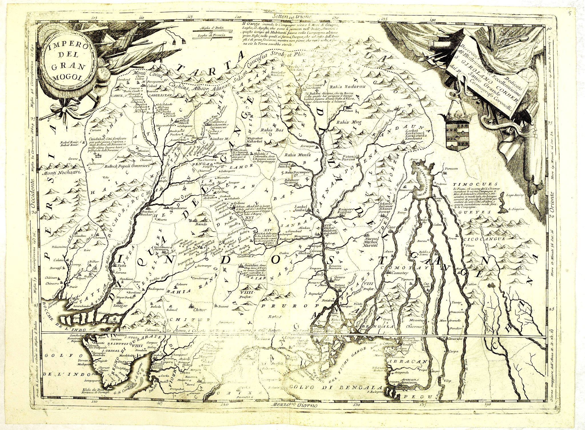 CORONELLI, V.M. -  Impero del Gran Mogol.