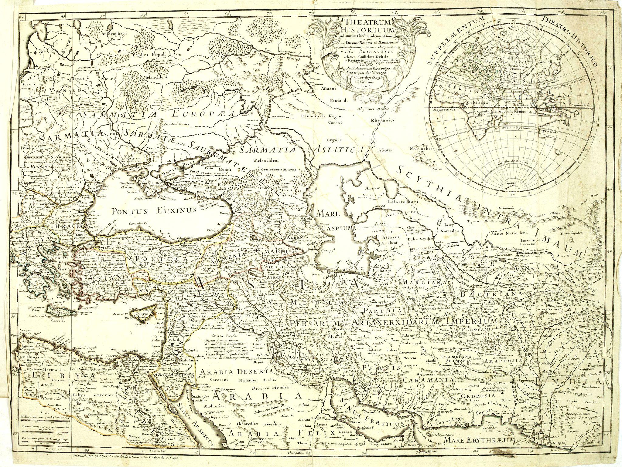 DE L'ISLE,G. -  Theatrum Historicum. . . Romani tu Barbarorum. . . Pars Orientalis. . .